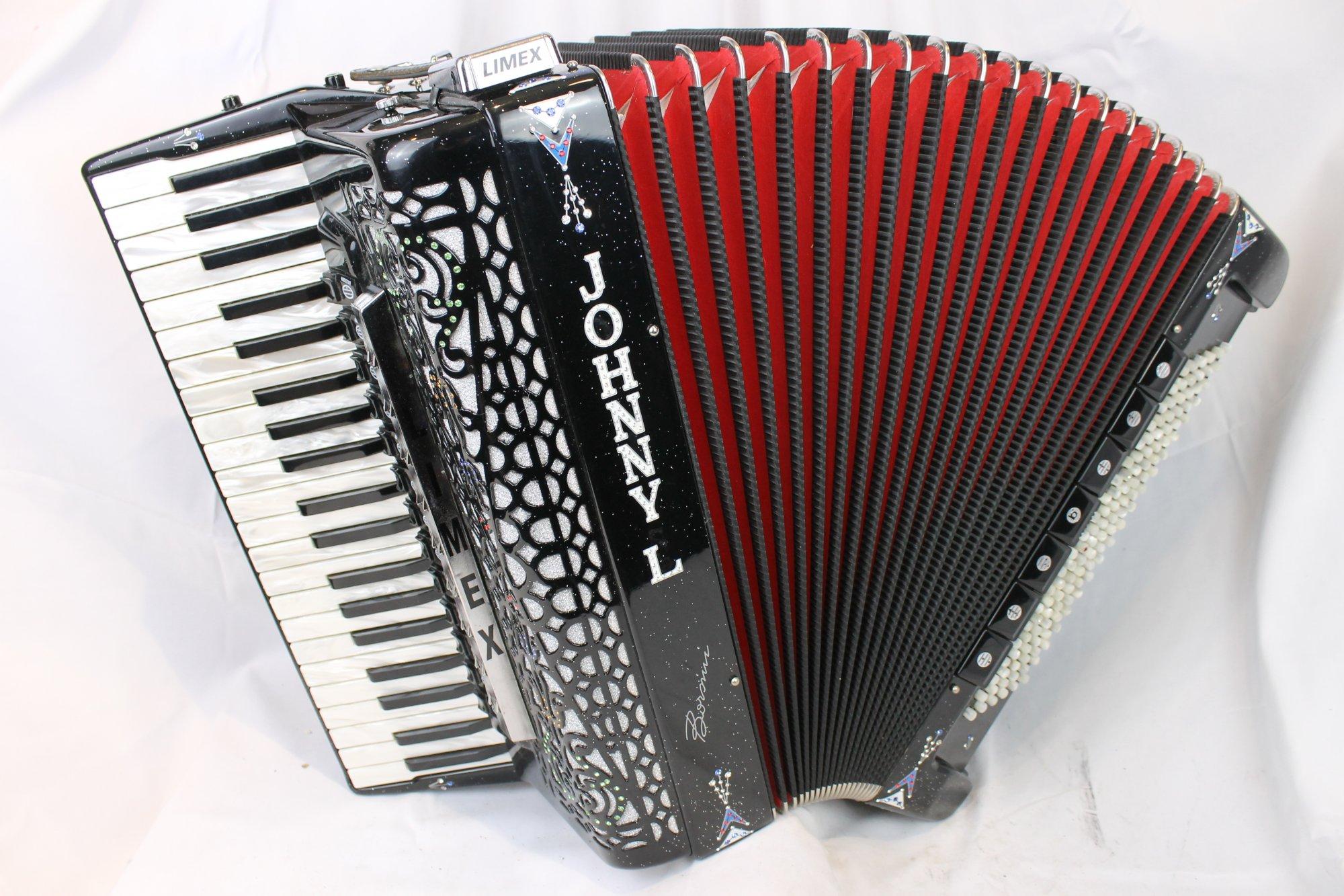 4030 - Black Sparkle Borsini Vienna K.11 Piano Accordion LMMMH 41 120