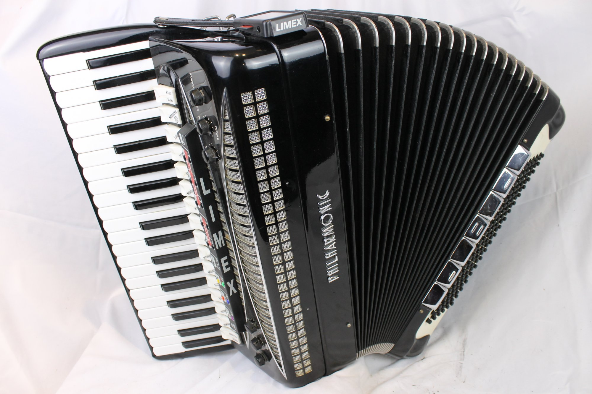 4031 - Black Philharmonic Double Tone Chamber LIMEX Piano Accordion LMMH 41 120