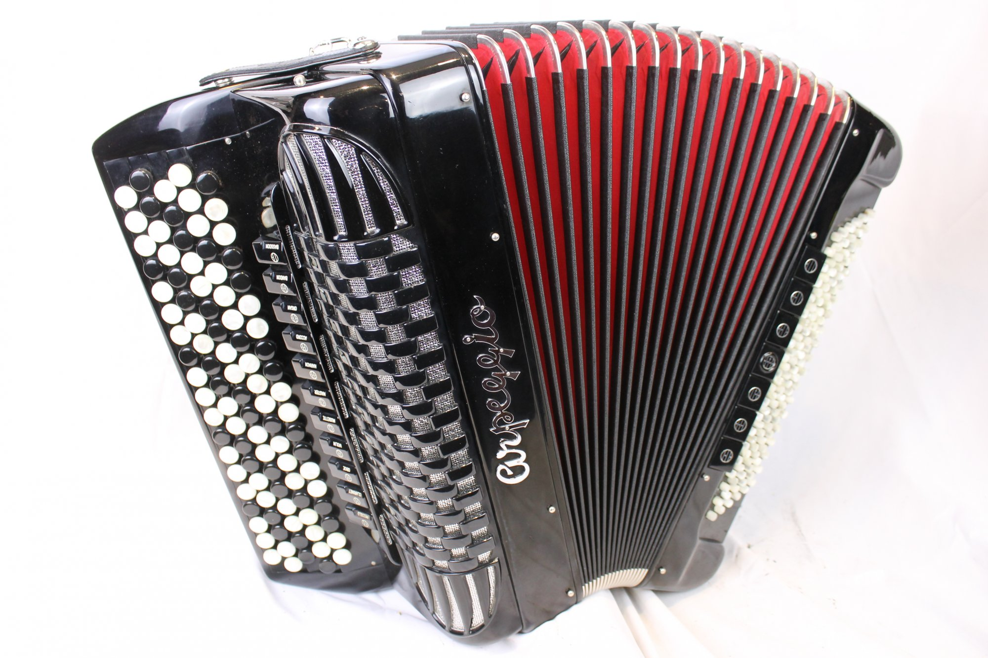 4040 - Like New Black Arpeggio Chromatic Button Accordion B System LMMH 92 120