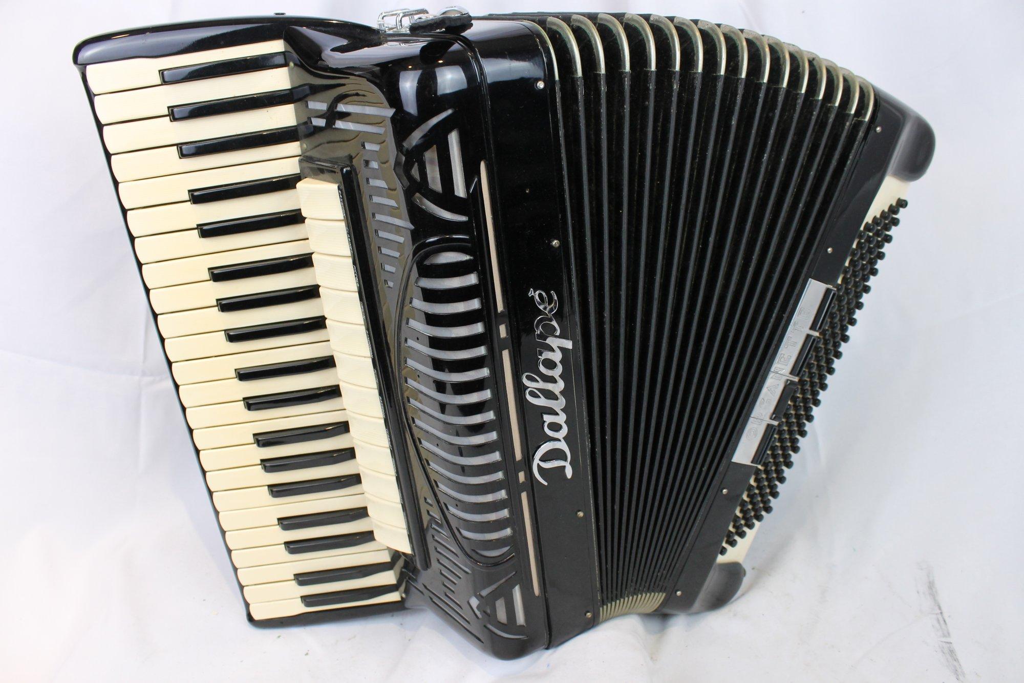 4073 - Black Dallape Organette Piano Accordion LMH 41 120