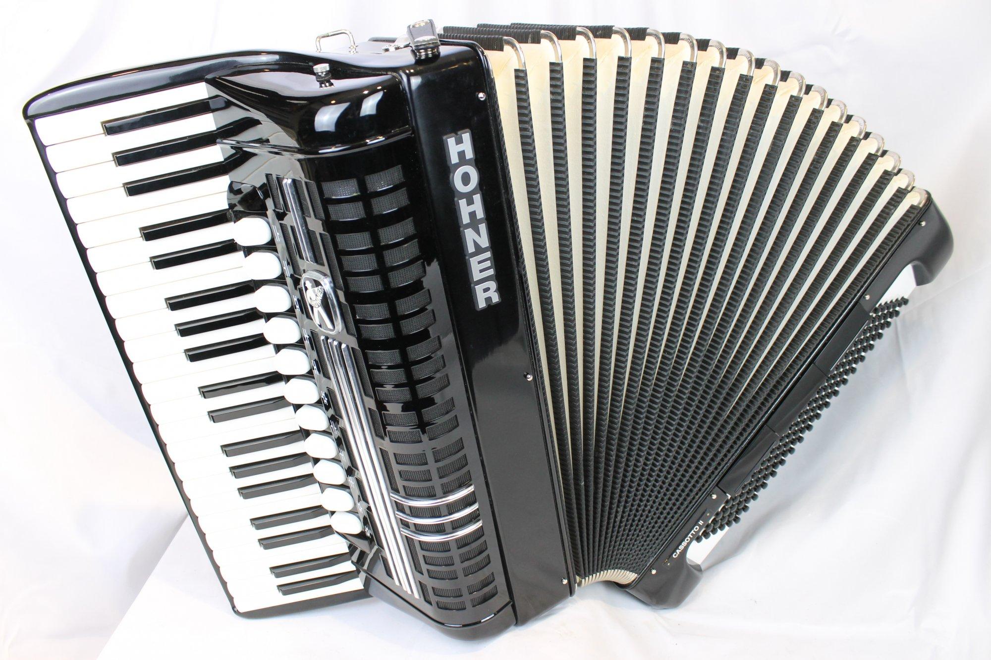 4079 - Black Hohner Cassotto II Piano Accordion LMMH 41 120