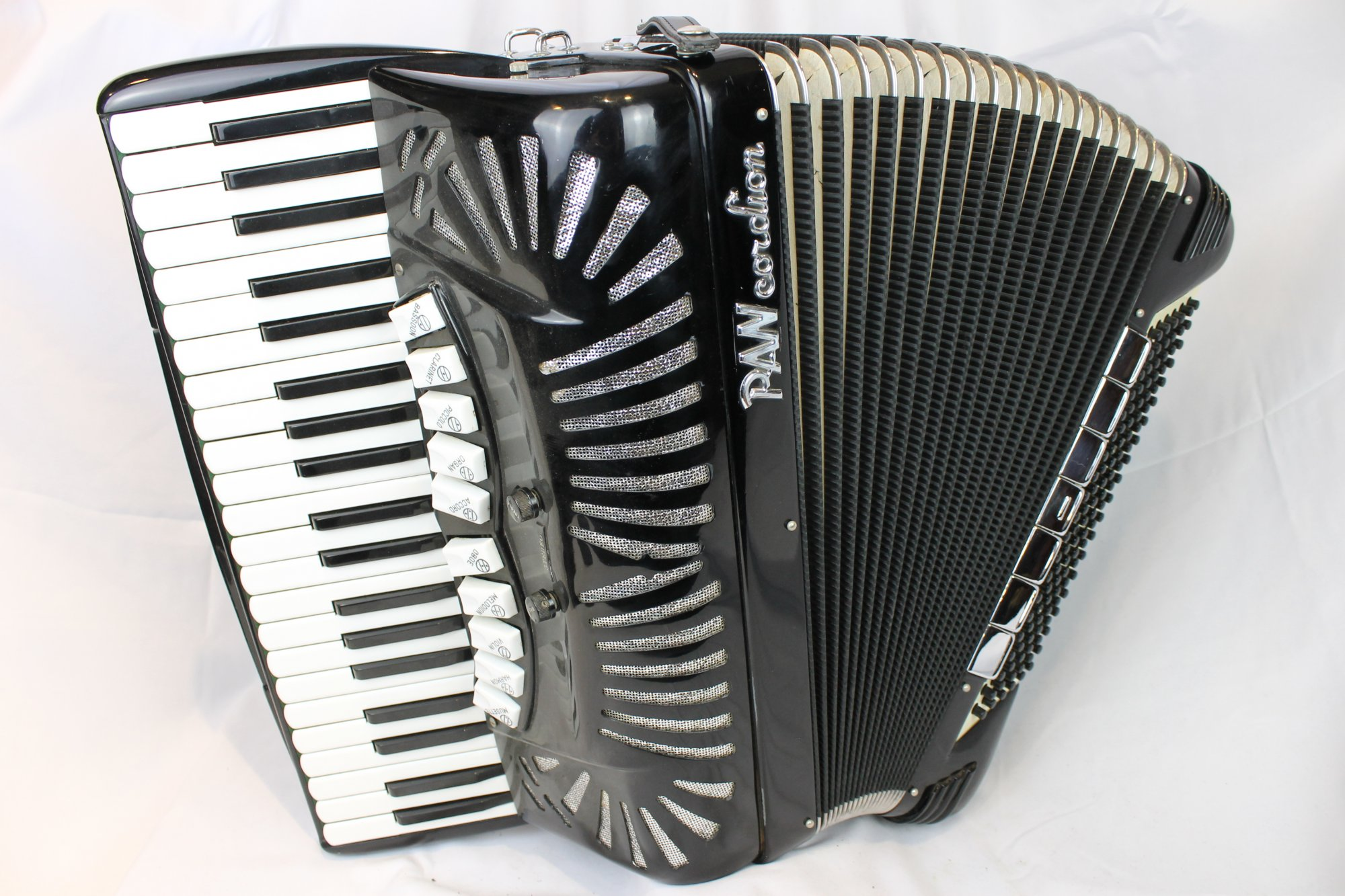 4102 - Black Pancordion Panjet Piano Accordion LMMH 41 120