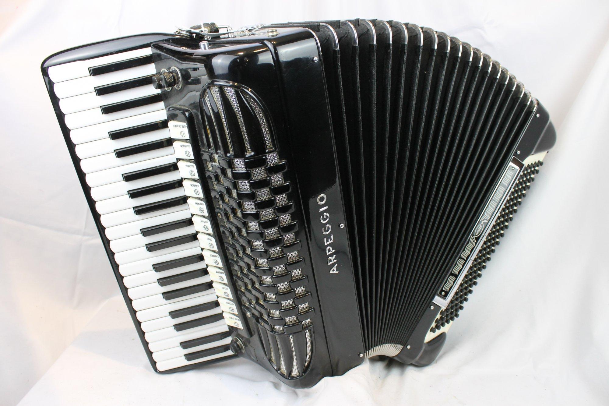 4106 - Black Arpeggio Piano Accordion LMMH 41 120