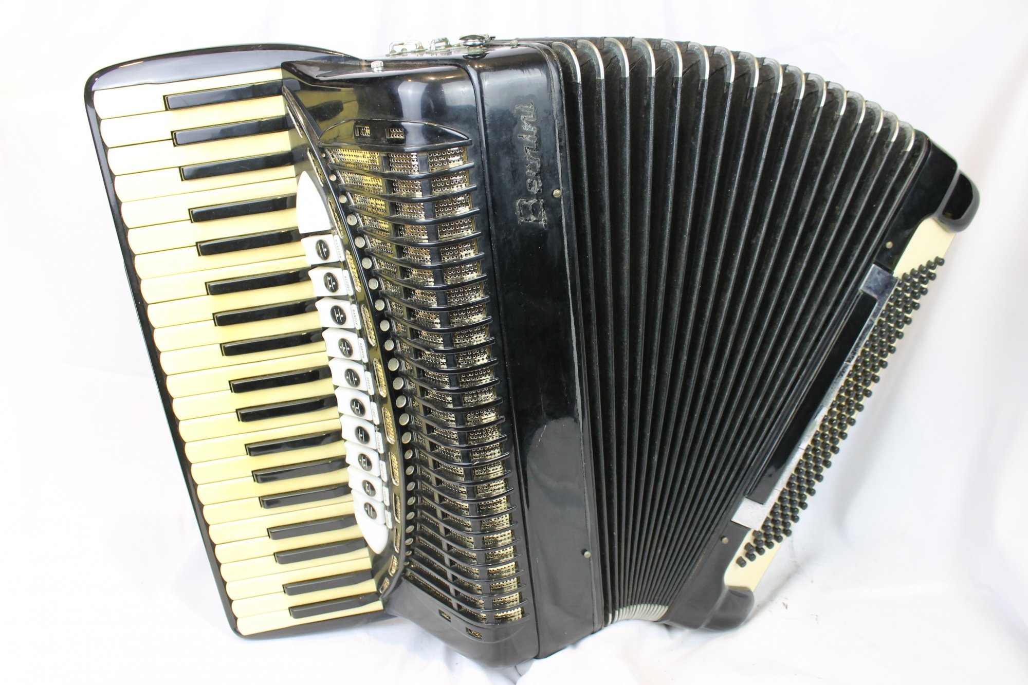 4119 - Black Bertini Piano Accordion LMMH 41 120