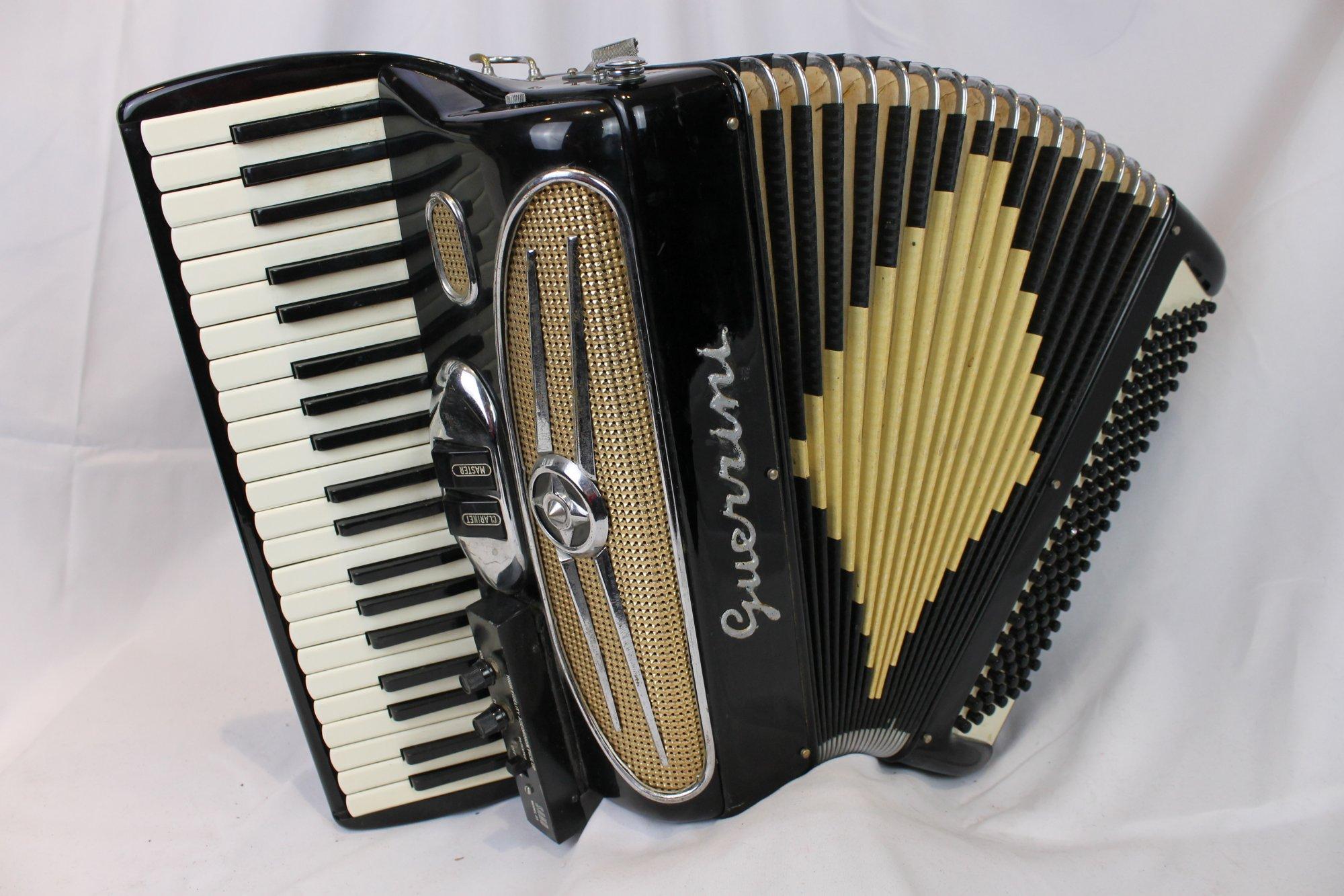 4163 - Black Guerrini Piano Accordion LM 41 120