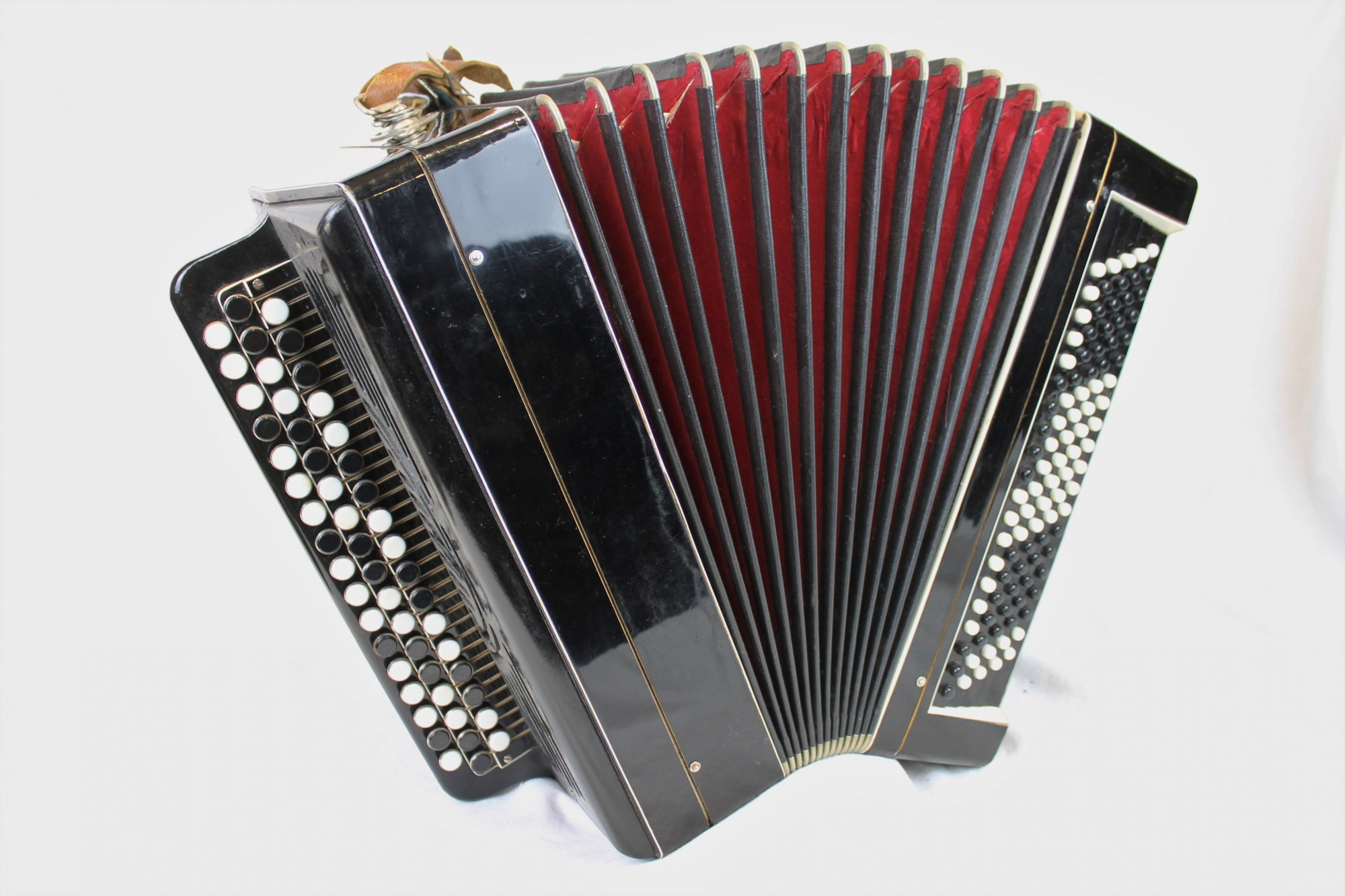 4179 - Black Bayan Chromatic Button Accordion MM 52 100