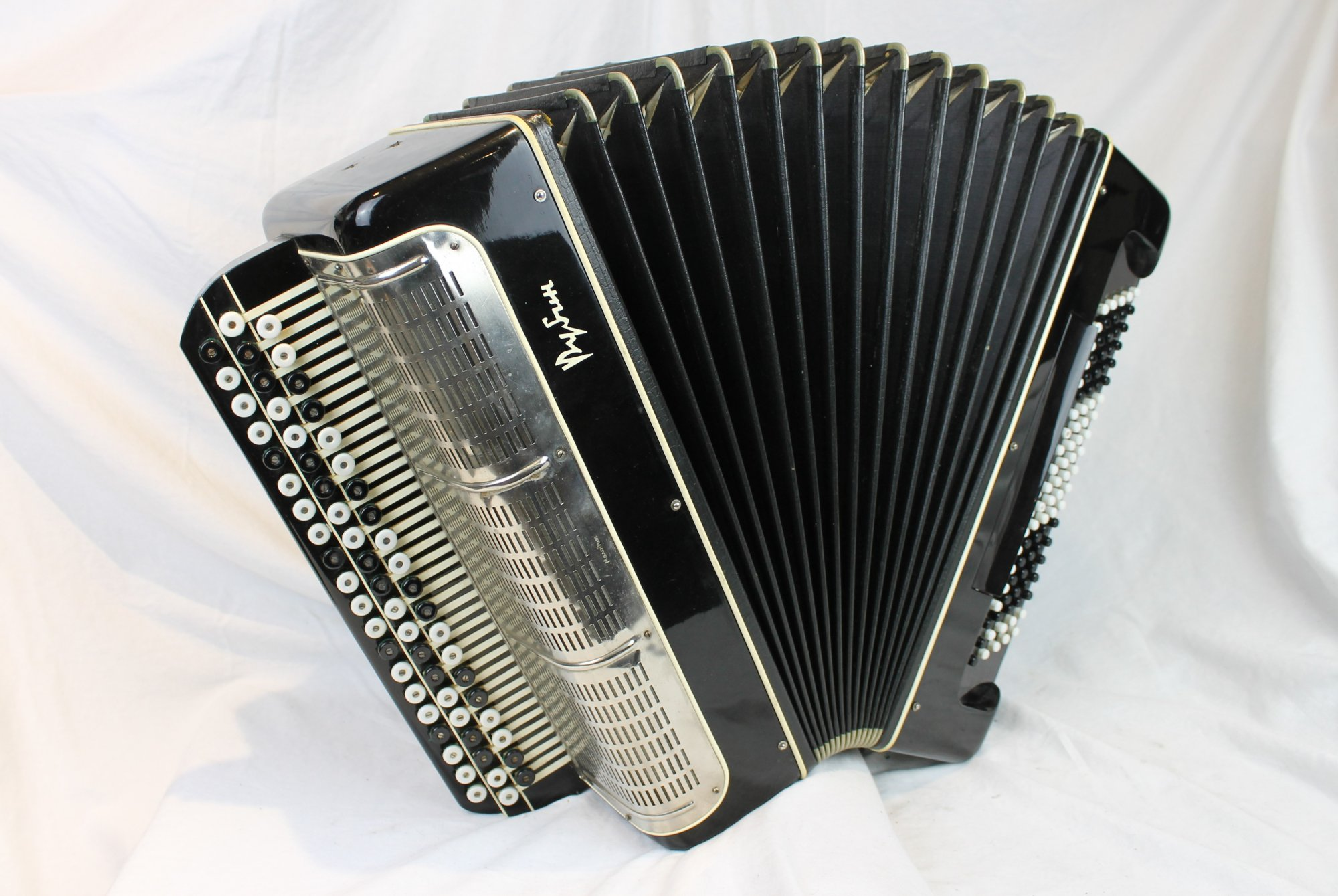 4180 - Black Bayan Chromatic Button Accordion MM 61 100