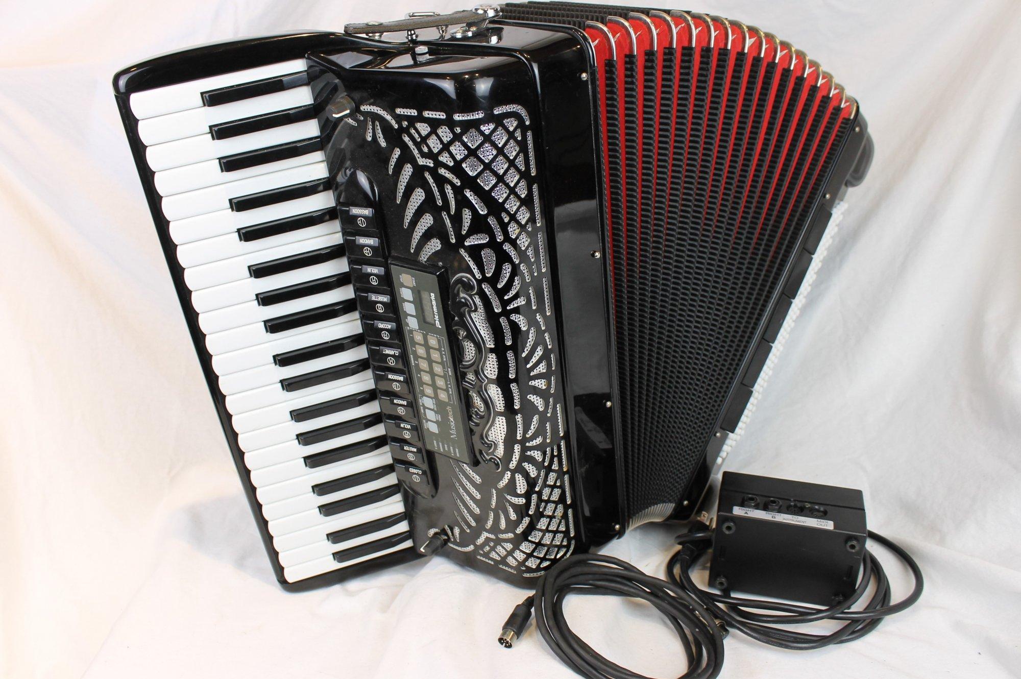 4185 - Black SEM 411 Piano Accordion MusicTech Midi LMMM 41 120