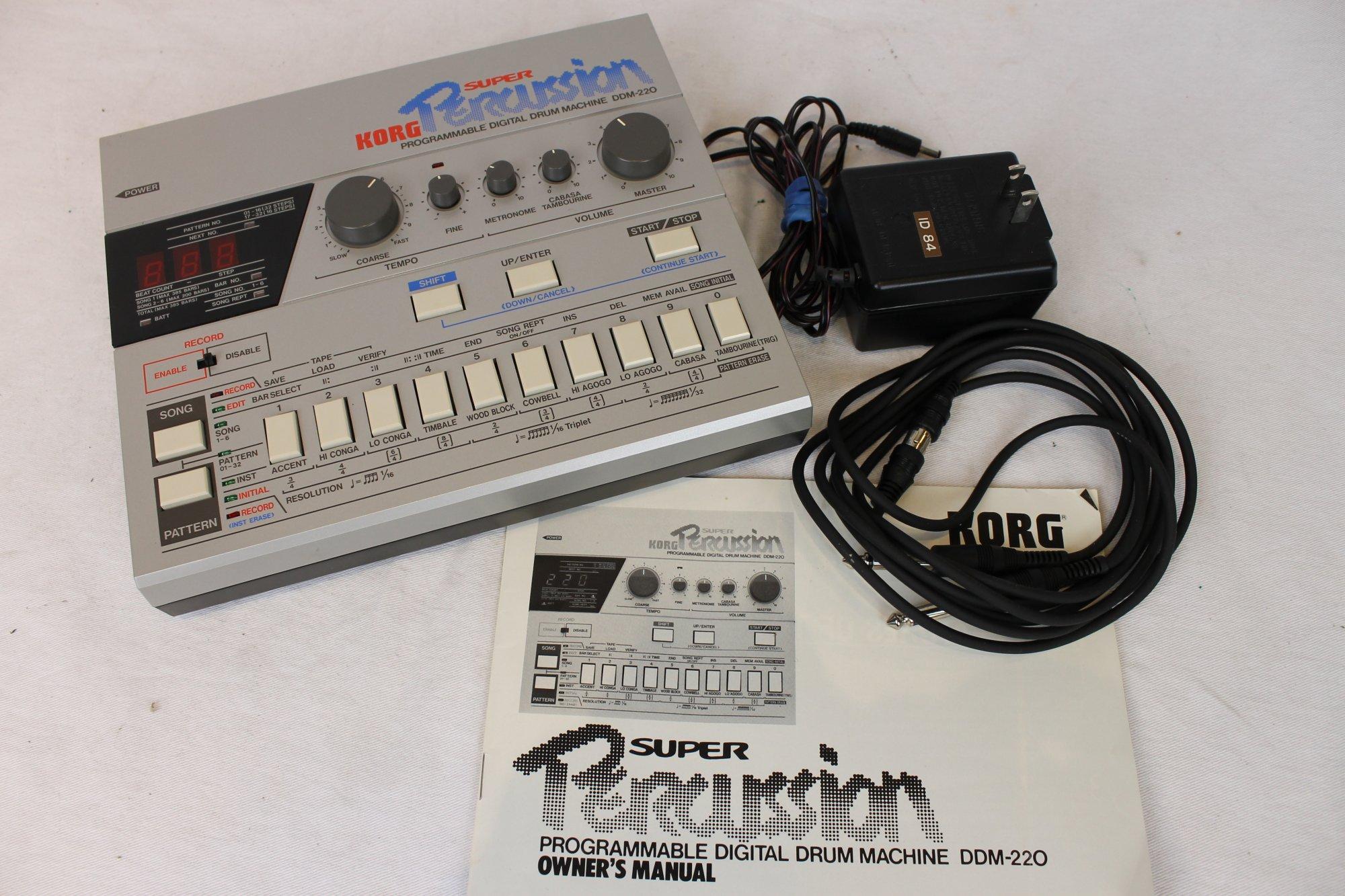 Korg DDM-220 Super Percussion Digital Drum Machine