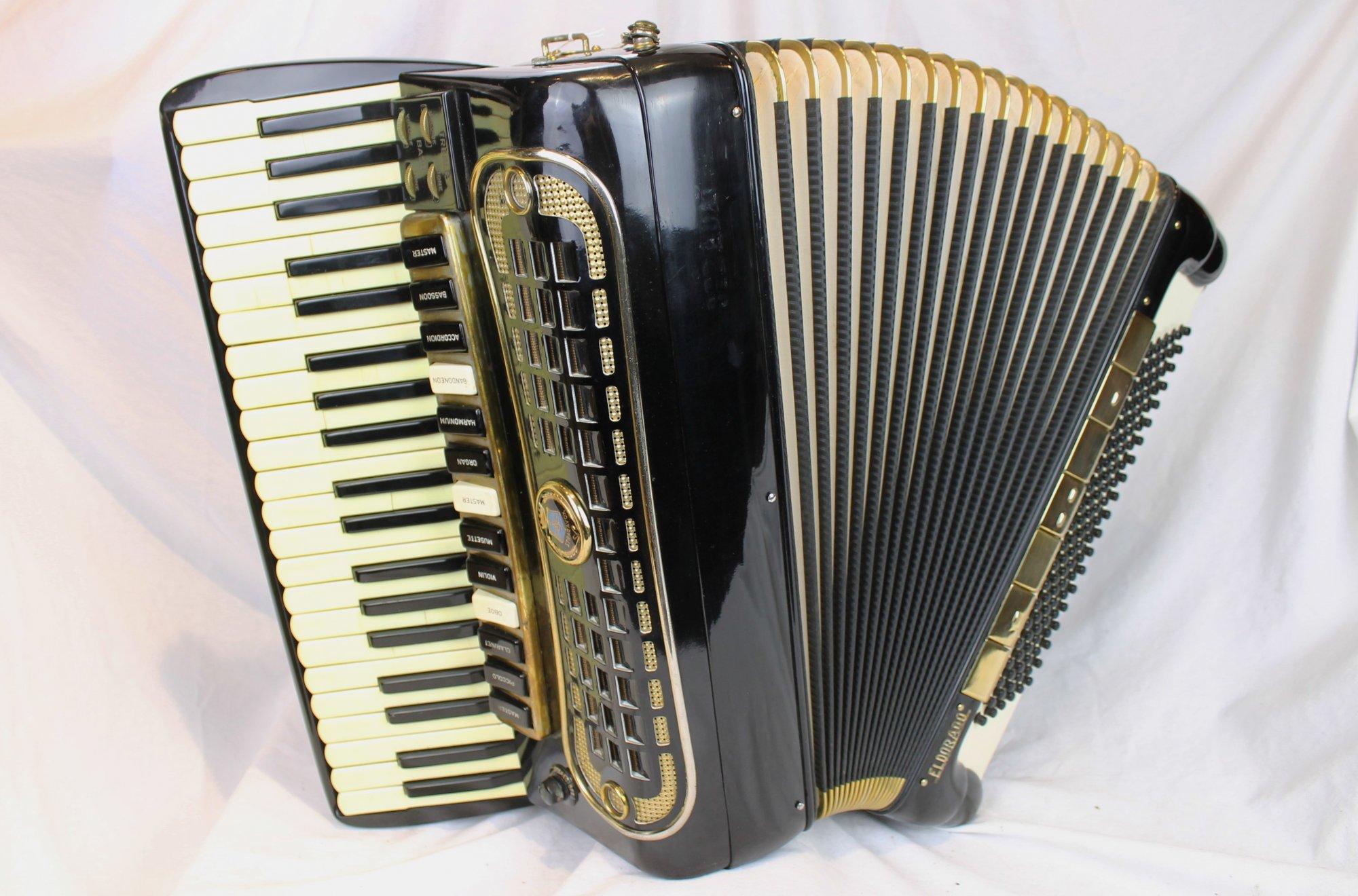 4226 - Black Stradavox Quadruple Tone Chamber Piano Accordion LMMH 41 120
