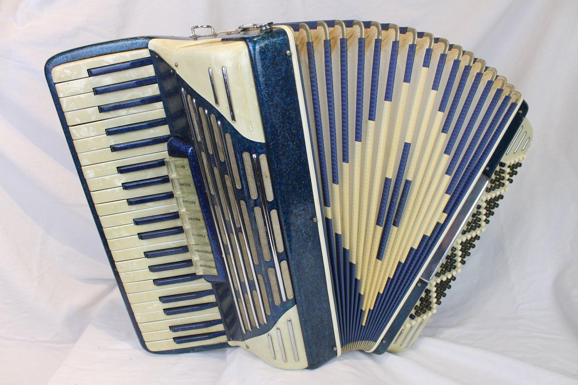 4231 - Blue Sparkle Italian Piano Accordion LMH 41 120