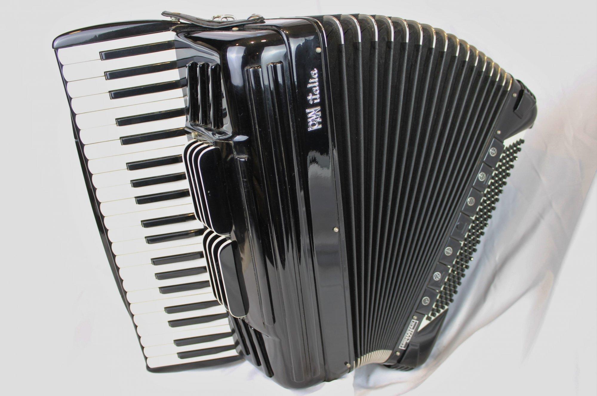 4259 - Black PanItalia Converter 45/19 Piano Accordion LMH 41 120