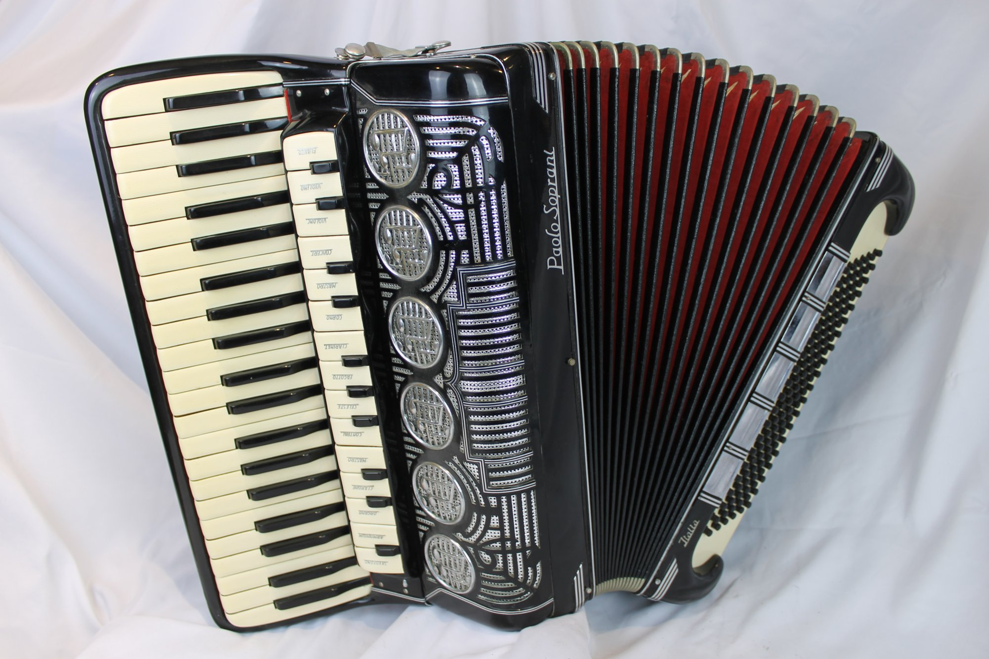 4269 - Black Paolo Soprani Italia Piano Accordion Tone Chamber LMMH 41 120