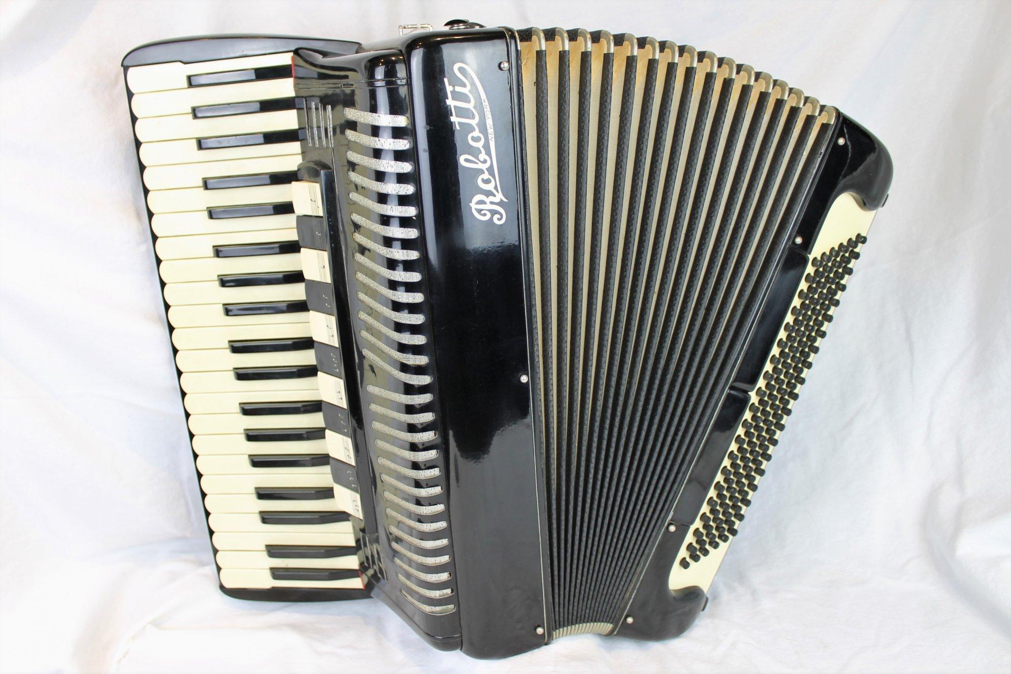 4341 - Black Robotti Piano Accordion LMMH 41 120