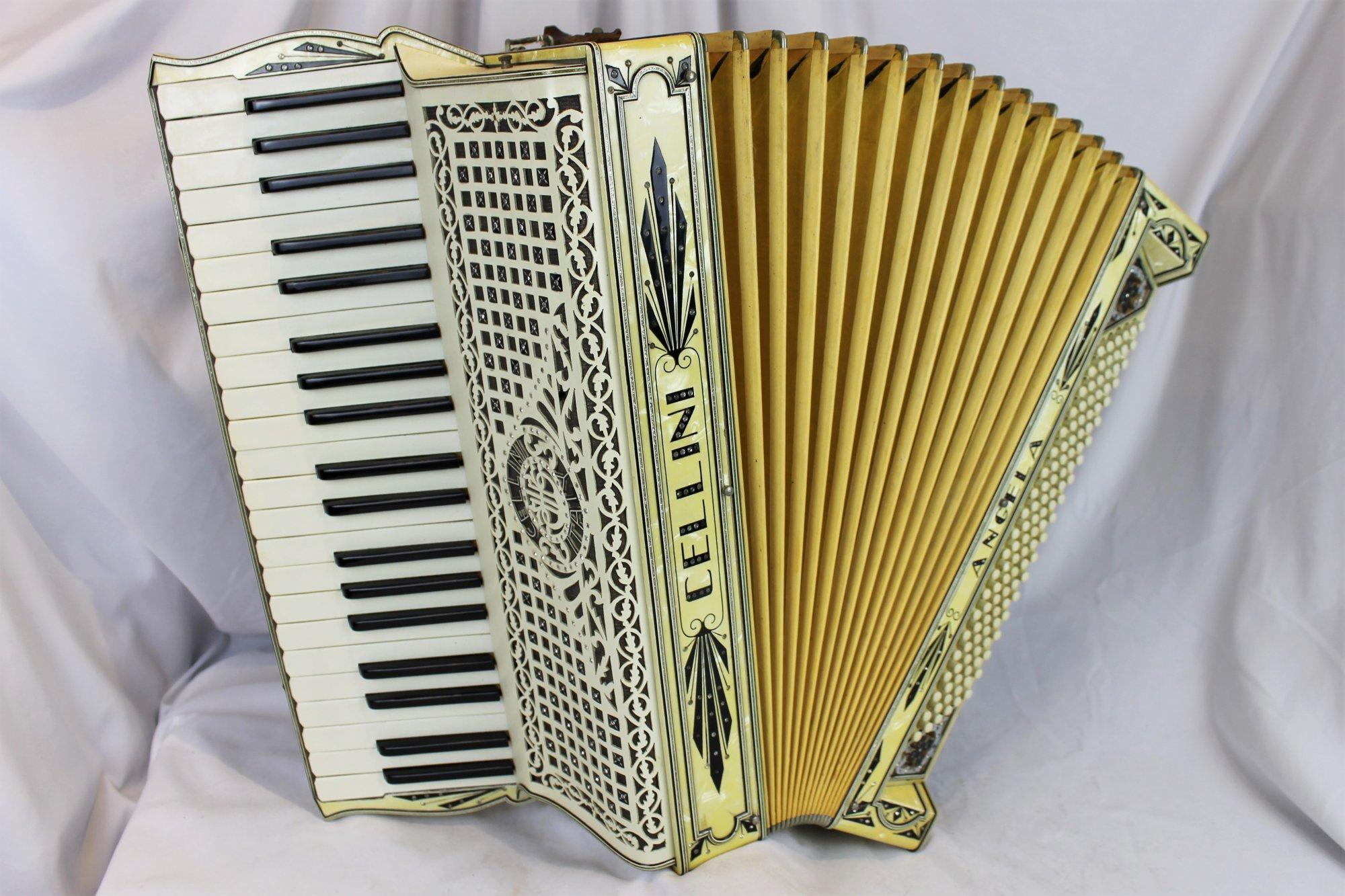 4375 - Ivory Cellini Angela Piano Accordion LMM 41 120