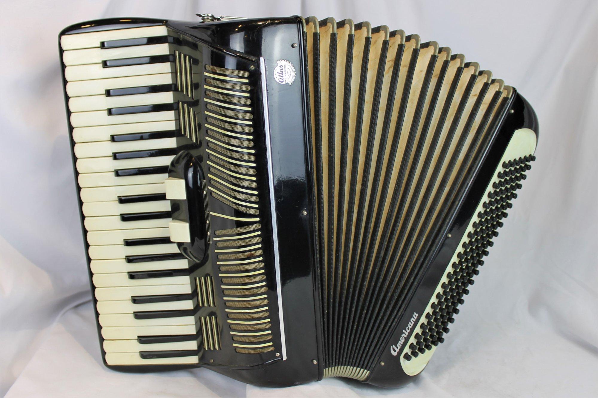 4383 - Black Atlas Americana Piano Accordion LM 41 120