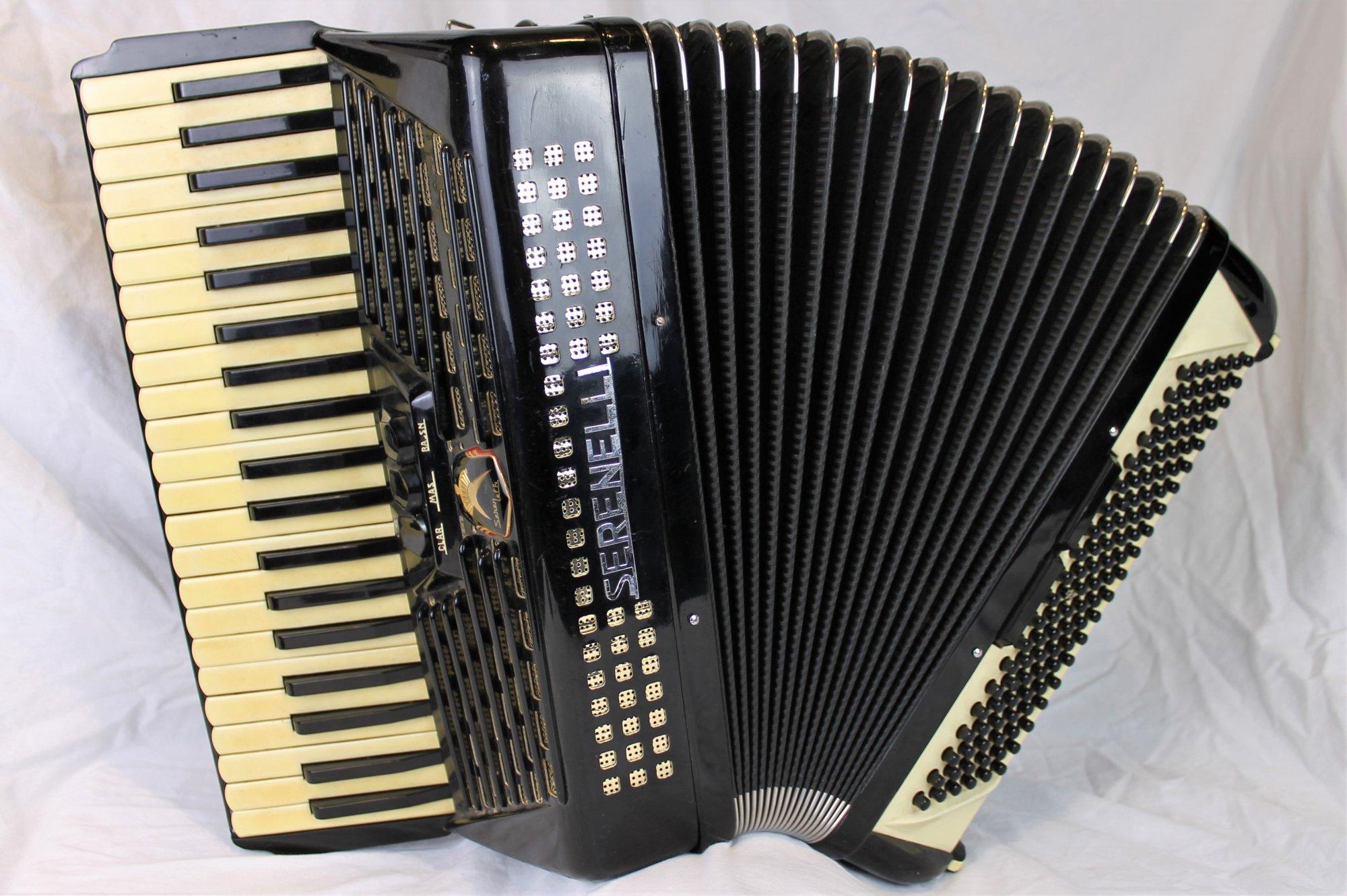 4397 - Black Gold Serenelli 74 Piano Accordion LM 41 120