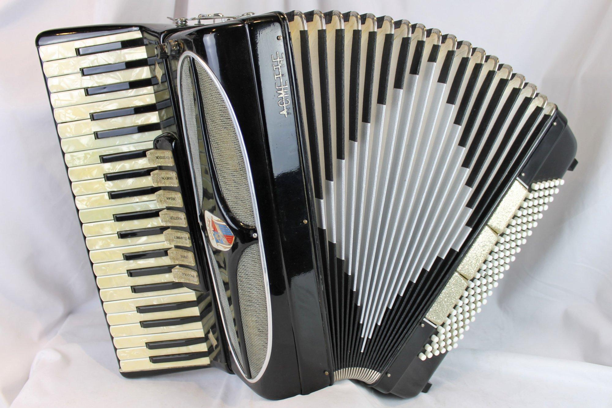 4405 - Black Acmette Piano Accordion MMH 41 120