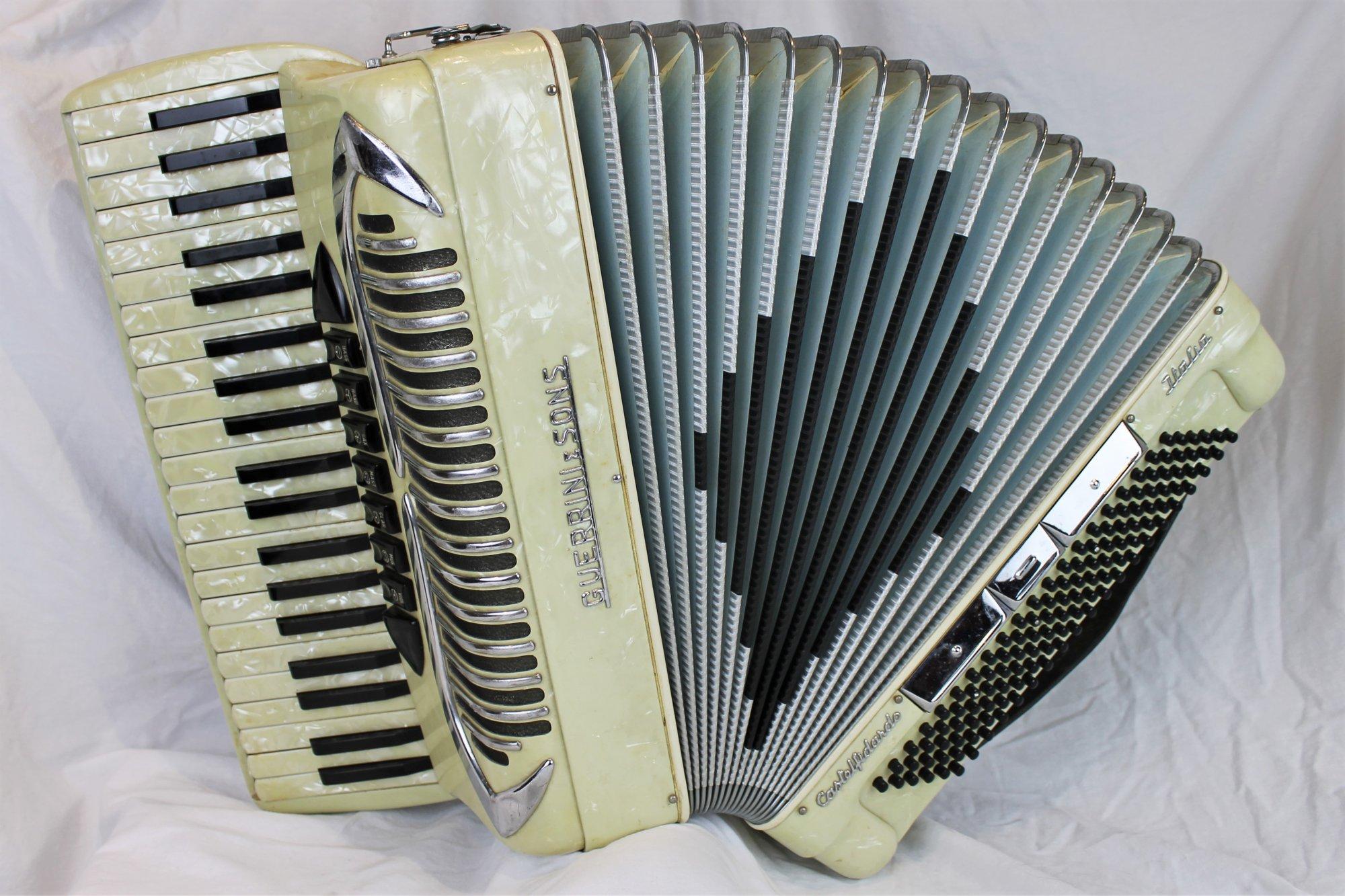 4412 - Ivory Guerrini & Sons Piano Accordion LMM 41 120