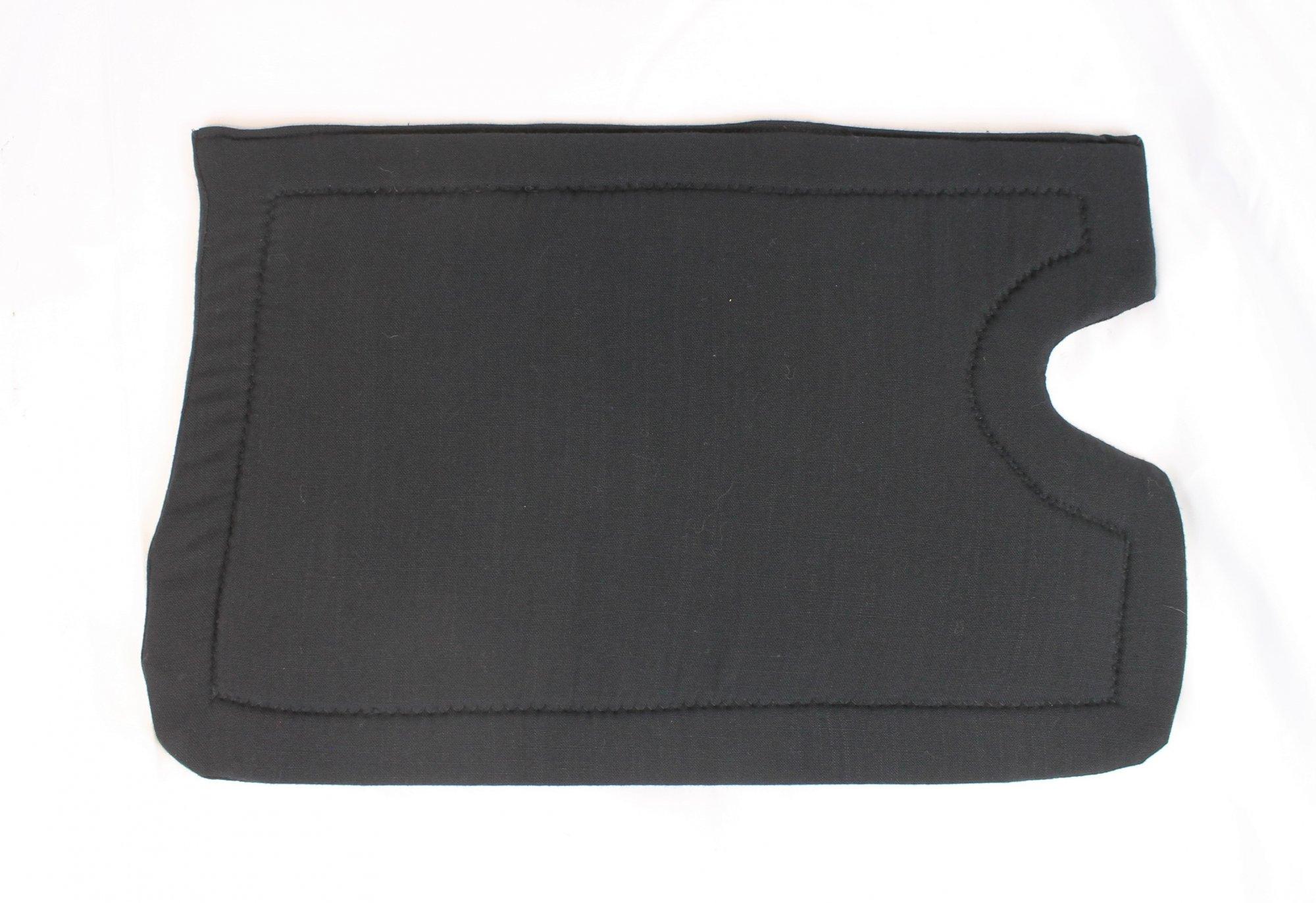 Black Nylon Cutout Accordion Back Pad Width (16.5in / 42cm) Length (10.5in / 27cm)