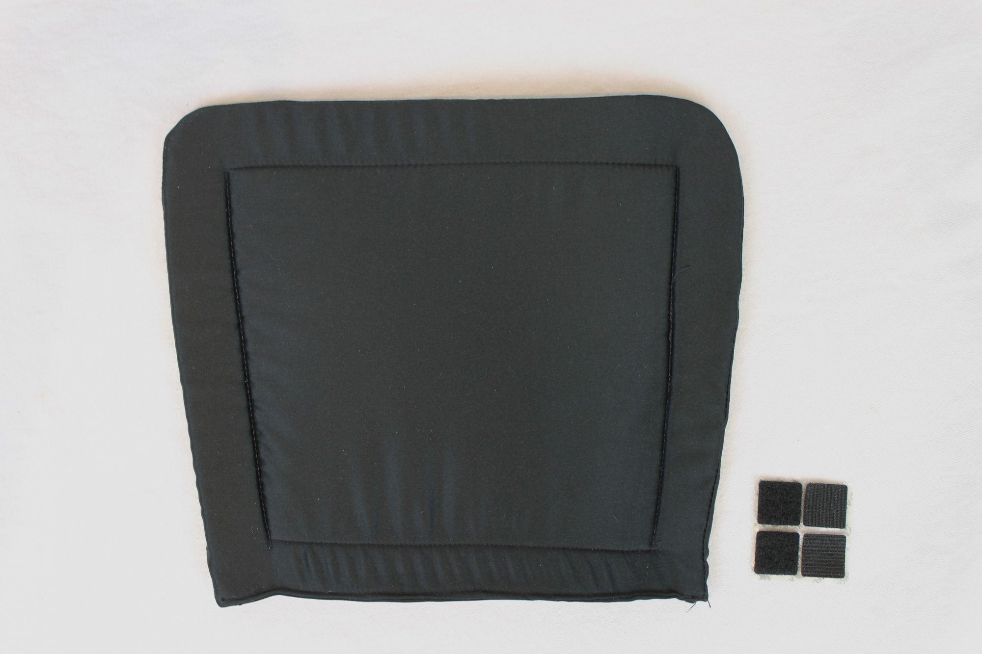 NEW Black Accordion Back Pad Width (32cm/11.75in) Length (25cm/9.75in)