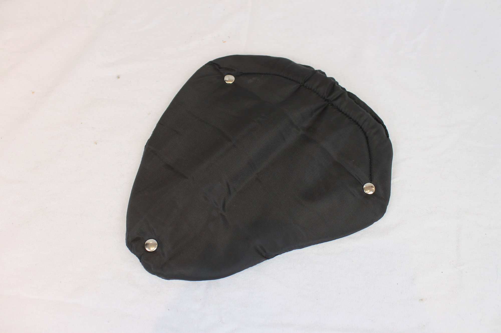 Black Nylon Electric Guitar Back Pad Width (26.5cm / 10.5in) Length (29cm / 11.5in)