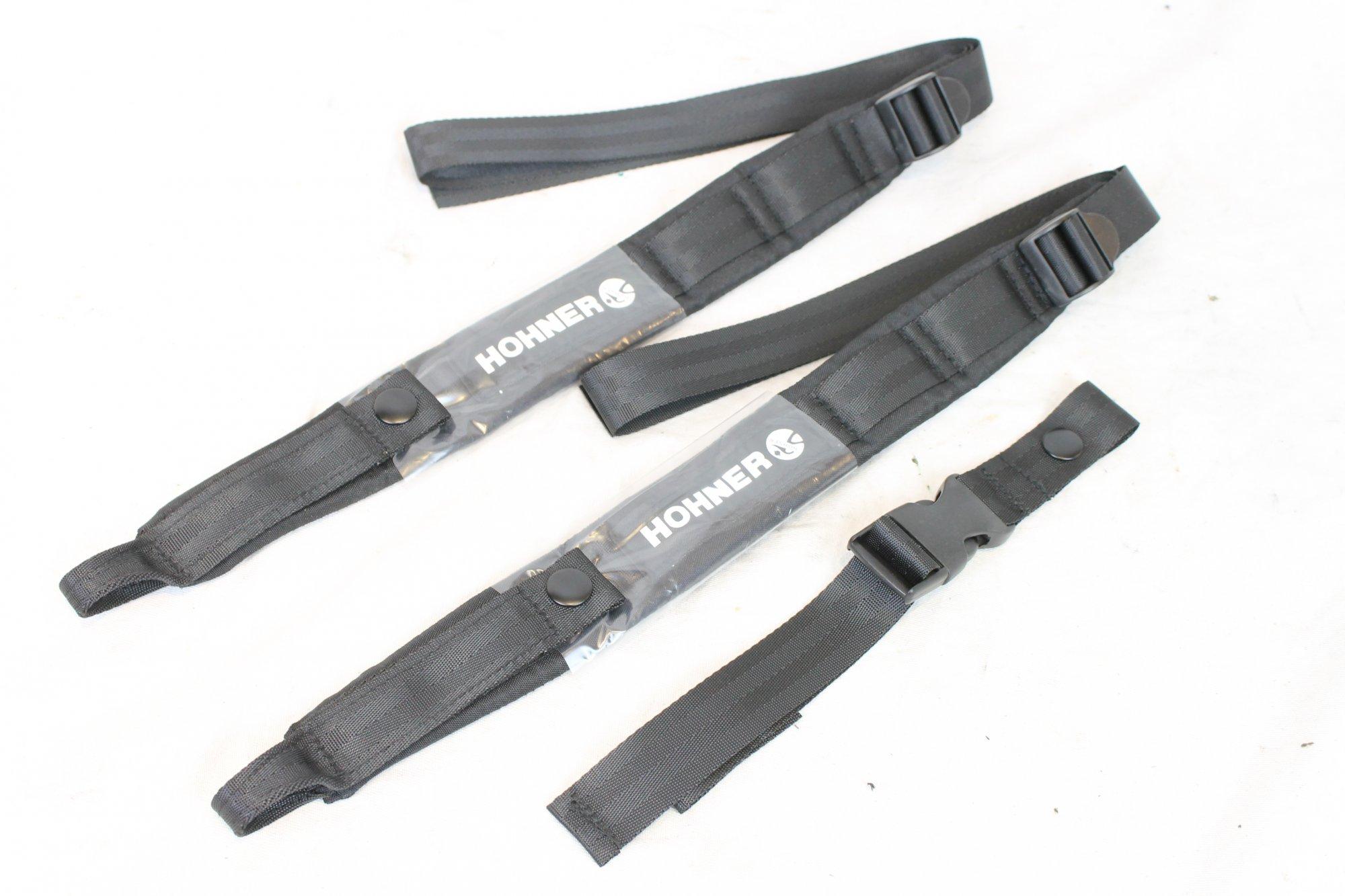 New Black Hohner Straps Width (4cm / 1.5in) Length (43~82cm / 17~32in)
