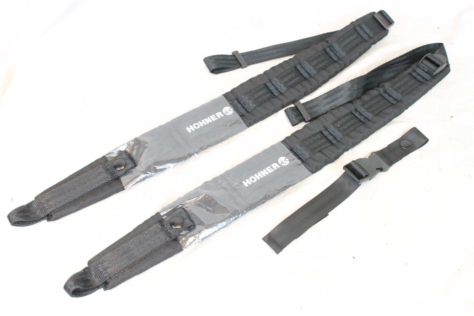 New Black Hohner Straps Width (6cm / 2.4in) Length (64~100cm / 35~40in)
