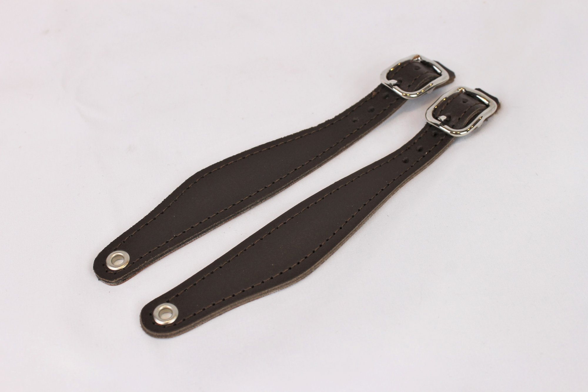 NEW Brown Leather Bandoneon Hand Strap - Pair of 2 Pieces