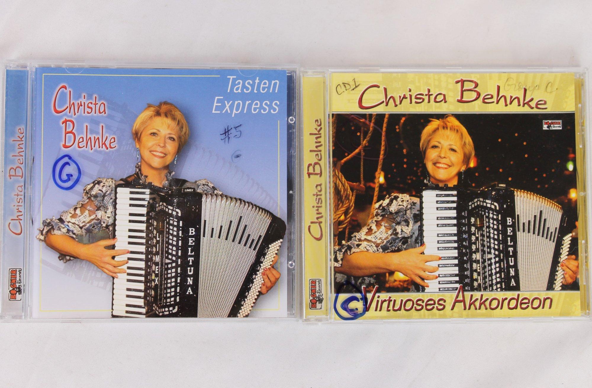 Christa Behnke: Virtuoses Akkordeon und Tasten Express CDs
