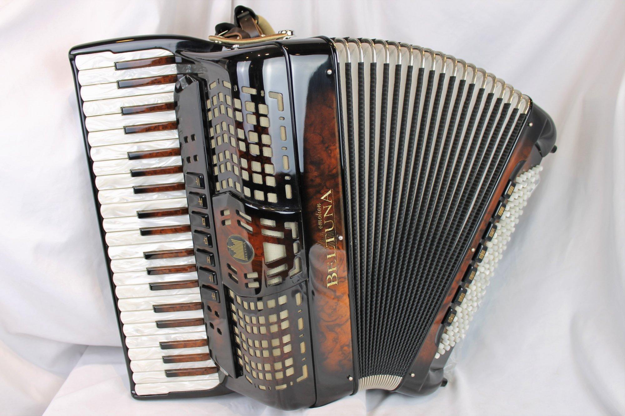 NEW Walnut Root Beltuna Prestige III Piano Accordion LMM 42 120