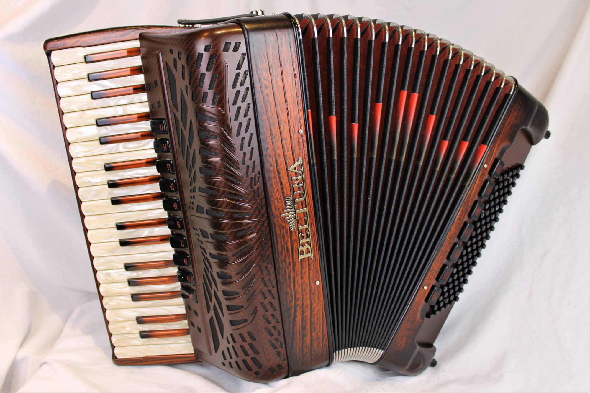 NEW Carved Copper Beltuna Prestige IV Fly Special Piano Accordion LMMM 37 96