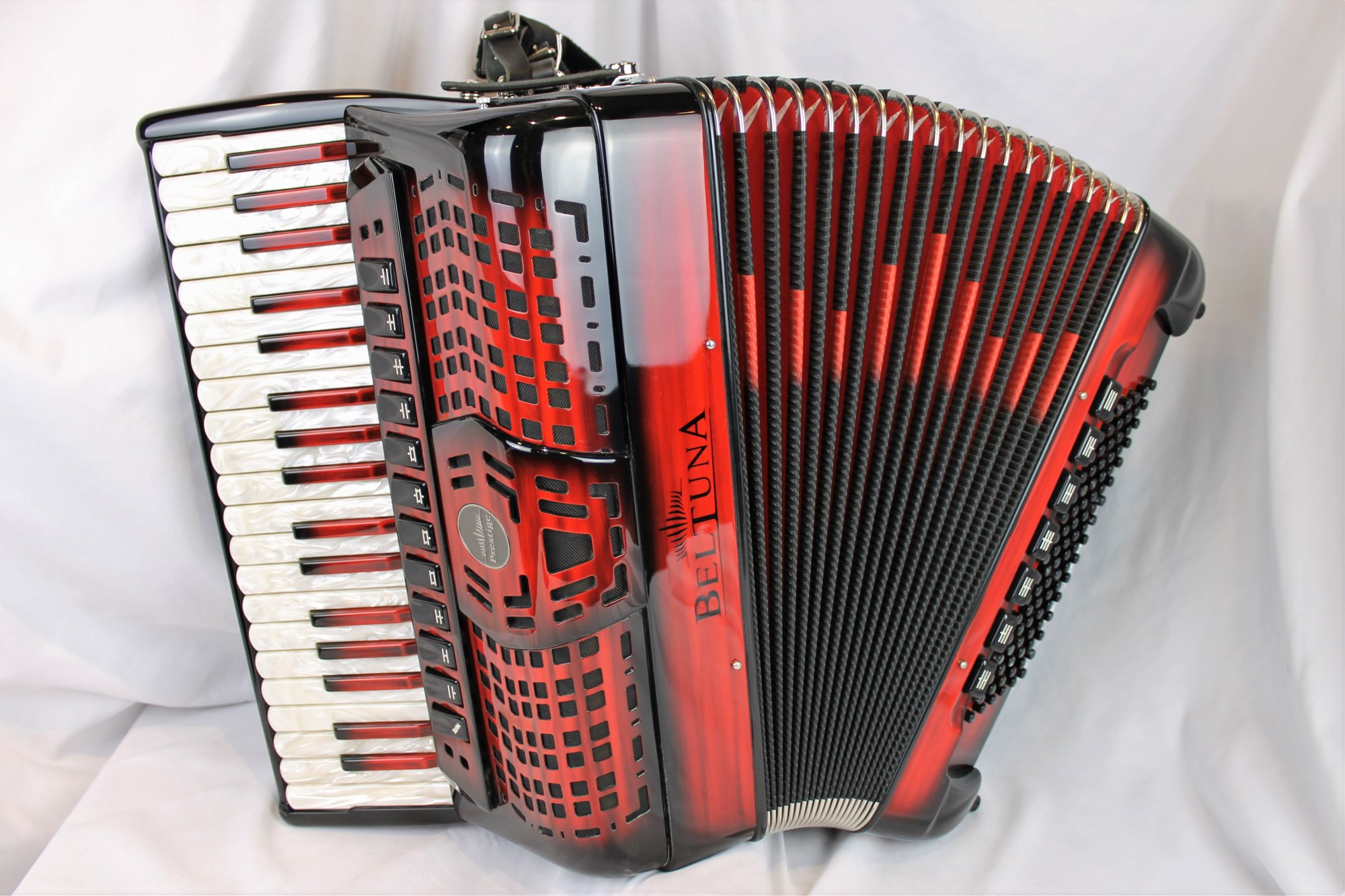 NEW Red Shadow Beltuna Prestige IV Piano Accordion LMMH 37 96