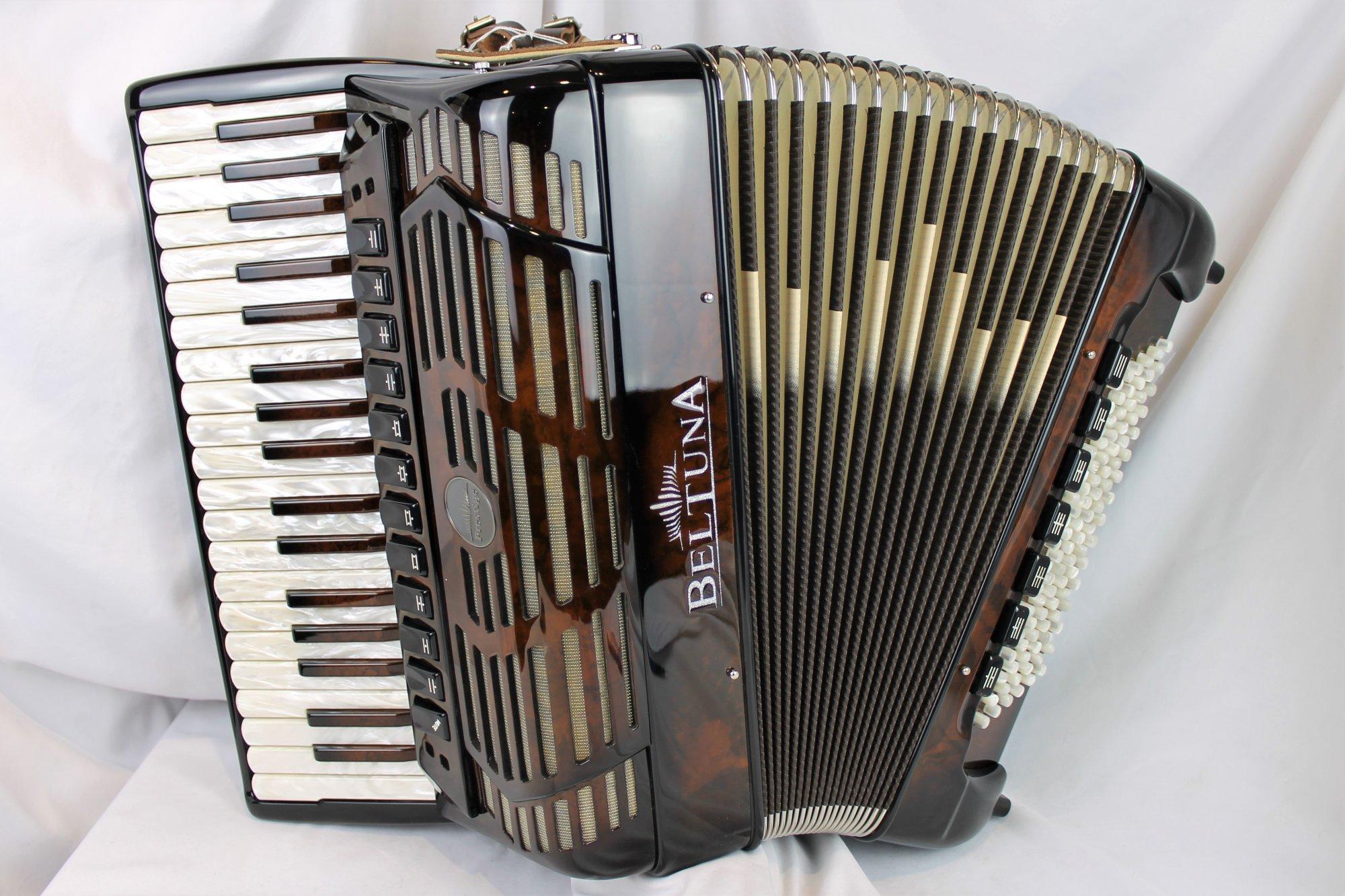 NEW Walnut Root Beltuna Prestige IV Piano Accordion LMMH 37 96