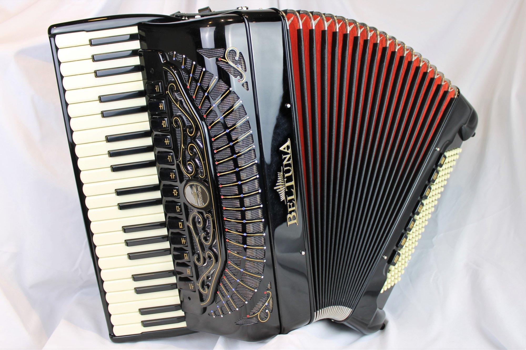 NEW Black Beltuna Prestige IV Balkan Star Piano Accordion LMMH 41 120