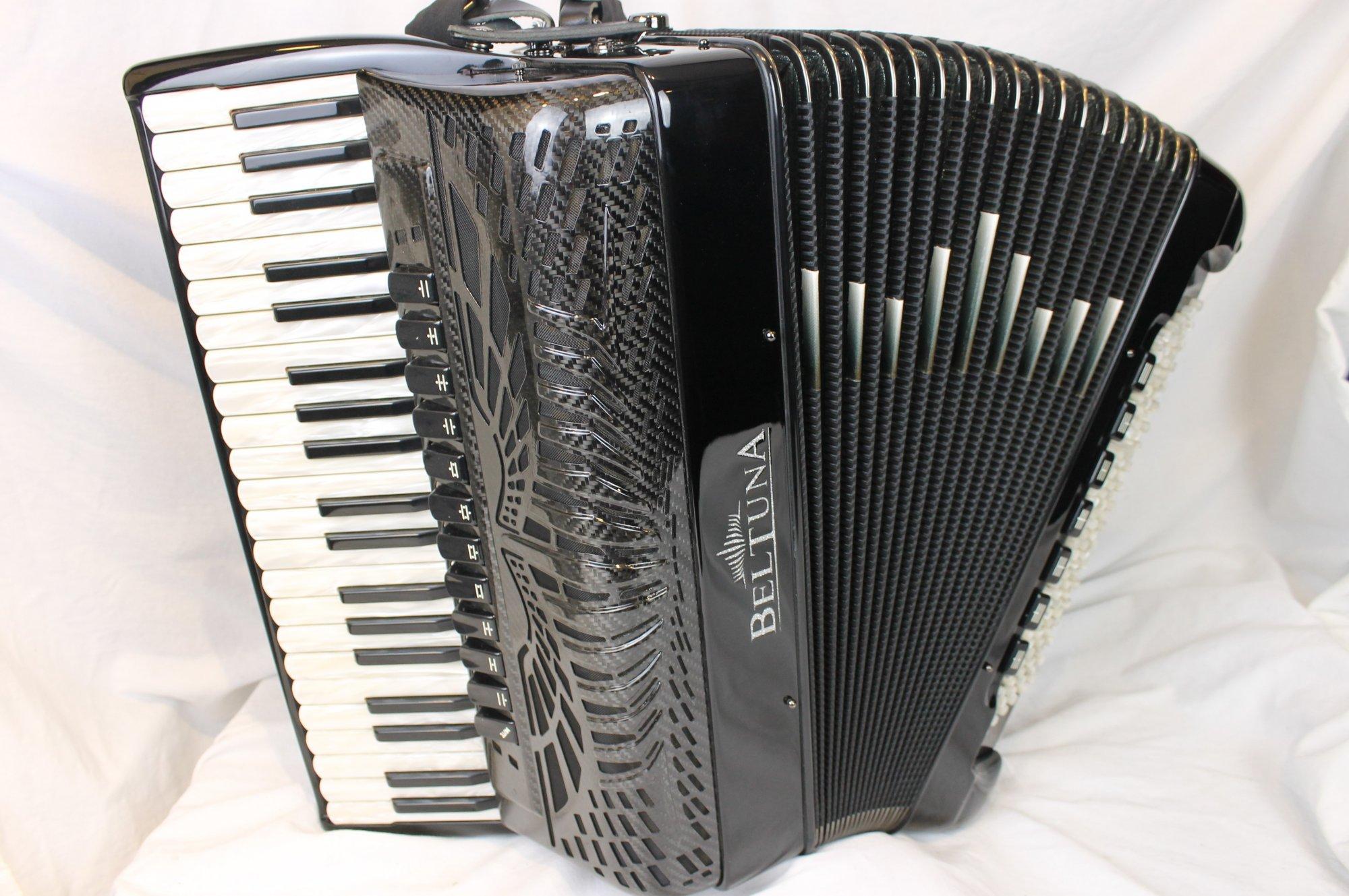 NEW Black Beltuna Prestige IV Fly Piano Accordion LMMH 41 120