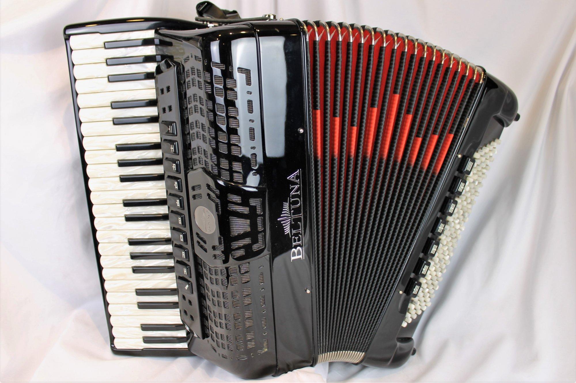 NEW Black Beltuna Prestige IV Piano Accordion LMMM 41 120