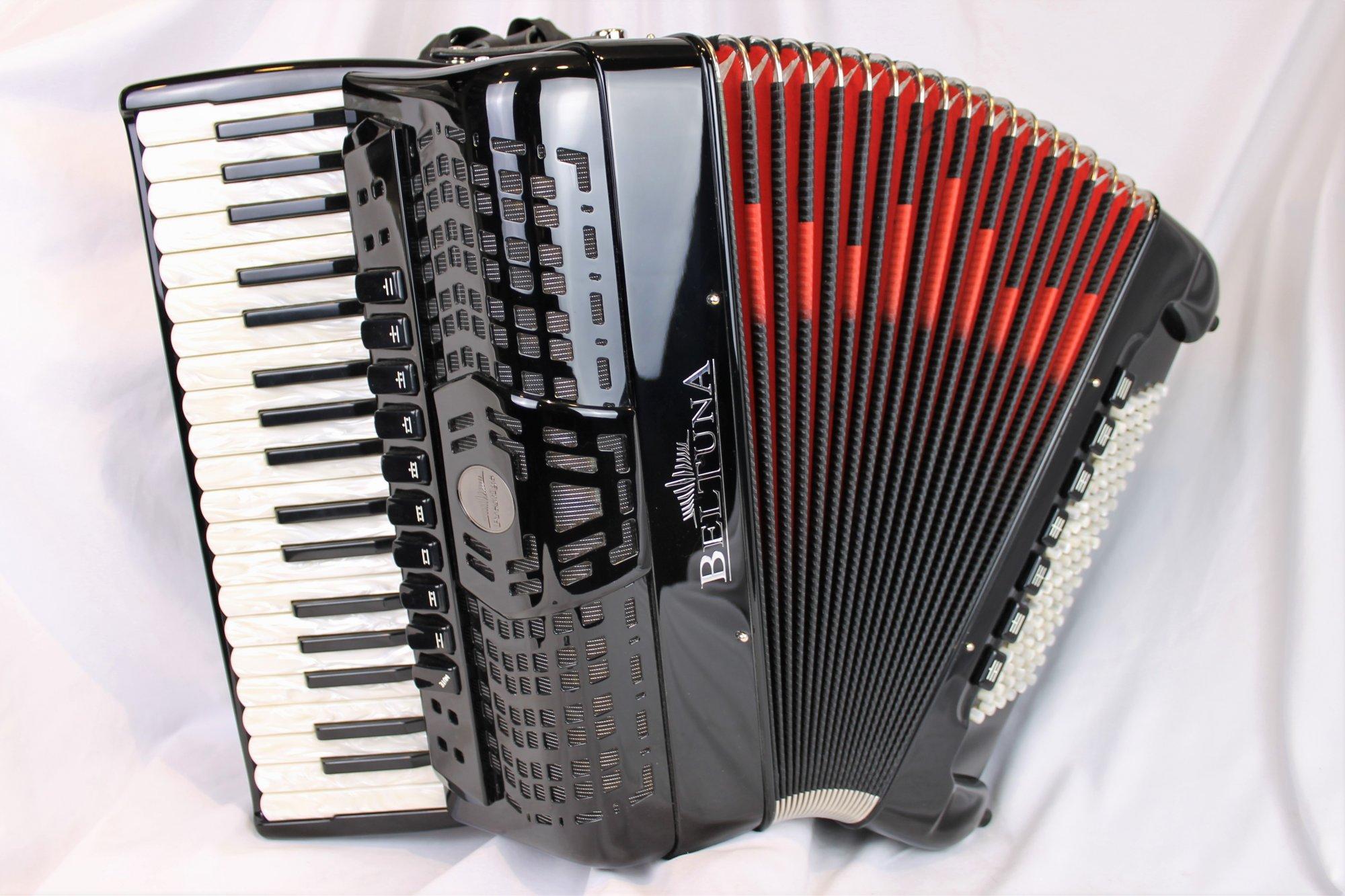 NEW Black Beltuna Prestige IV Piano Accordion LMMM 37 96