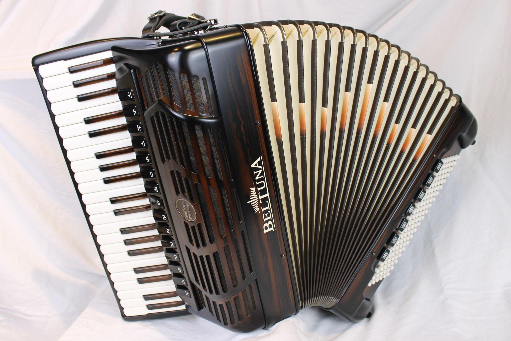 NEW Ebony Beltuna Prestige V Special Piano Accordion LMMMH 41 120