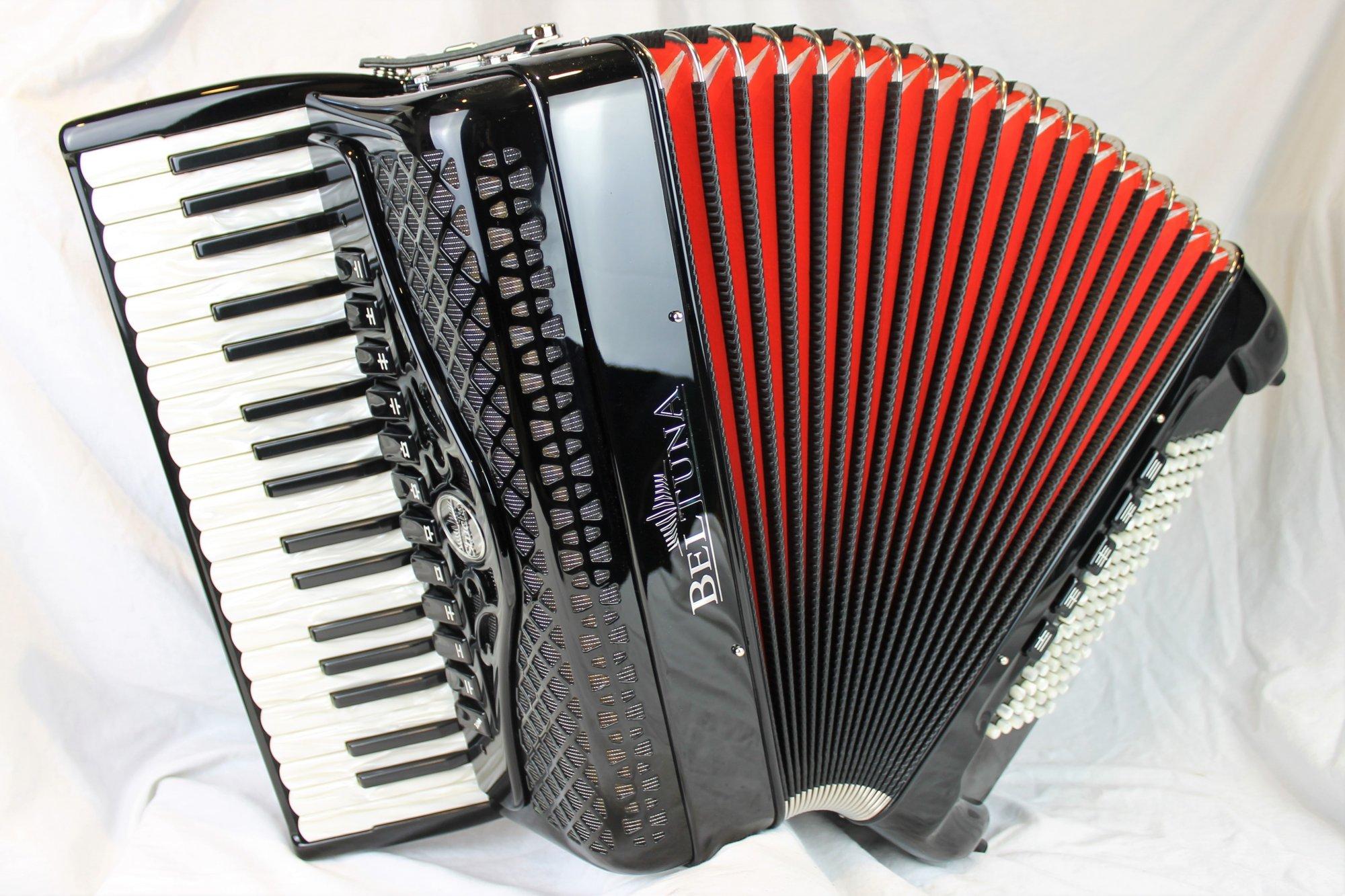 NEW Black Beltuna Studio IV Piano Accordion LMMH 37 96