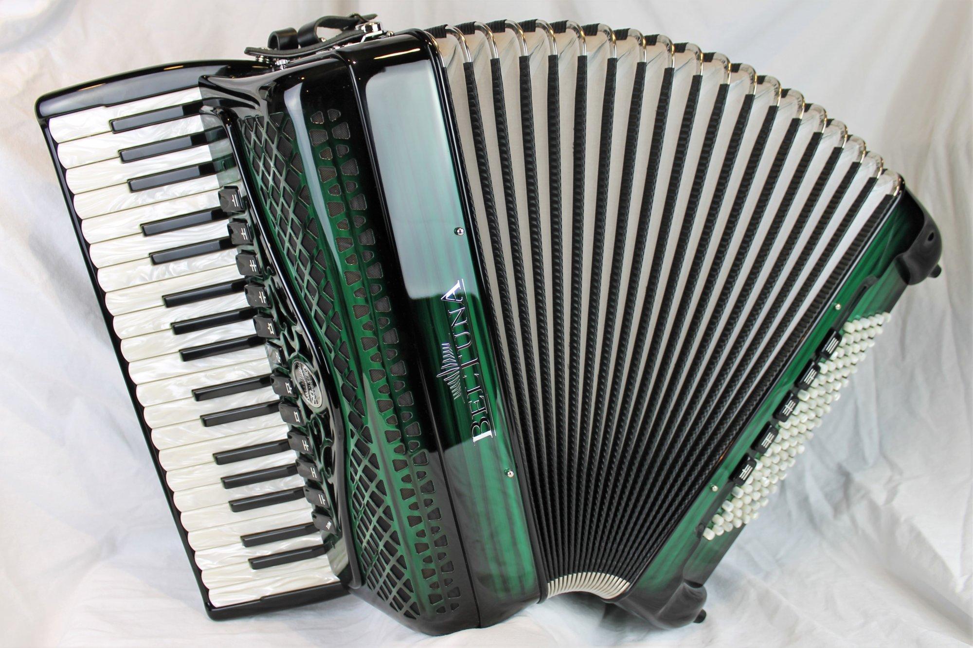 NEW Green Shadow Beltuna Studio IV Piano Accordion LMMH 37 96