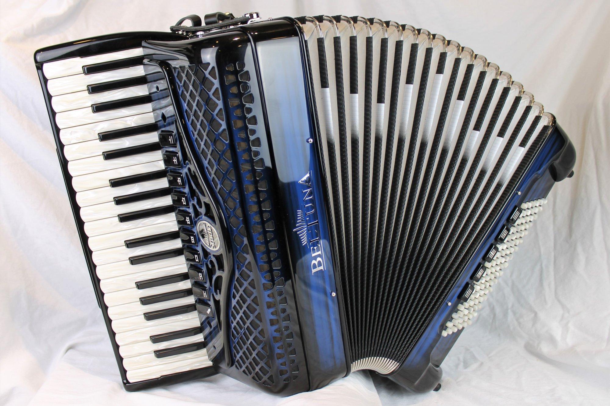 NEW Blue Shadow Beltuna Studio IV Piano Accordion LMMM 37 96