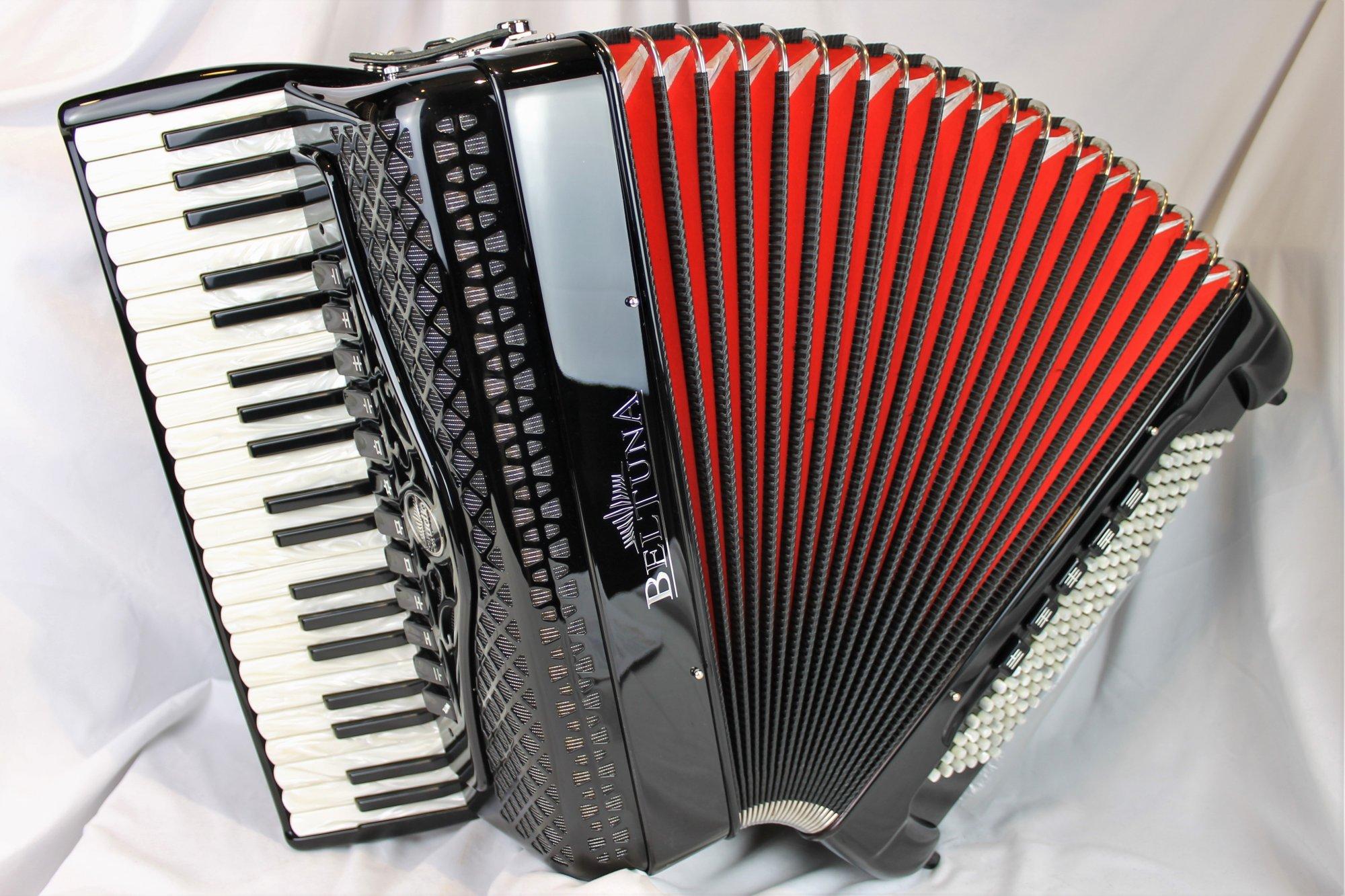 NEW Black Beltuna Studio IV Piano Accordion LMMH 41 120