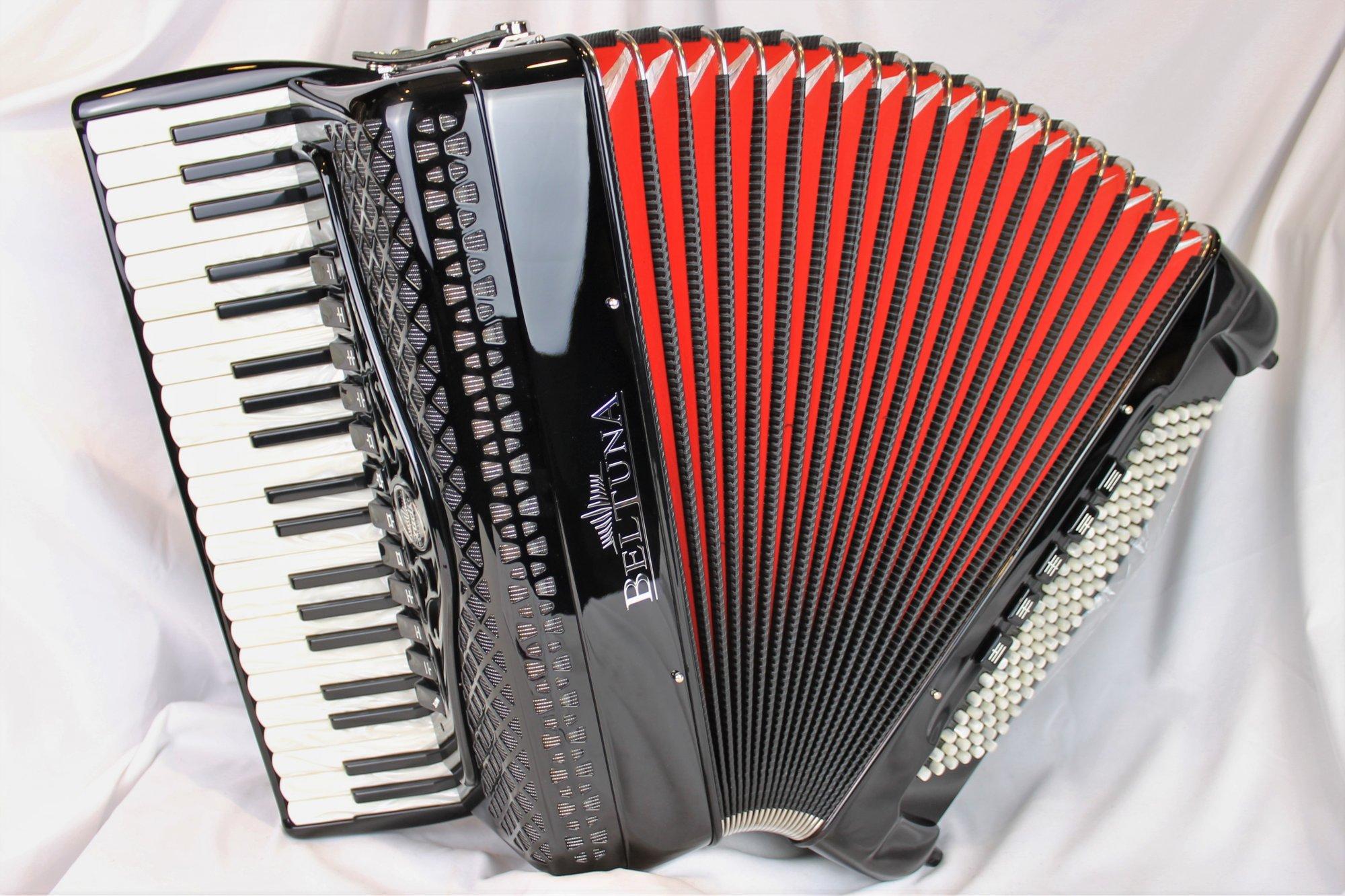 NEW Black Beltuna Studio IV Compact Piano Accordion LMMH 41 120