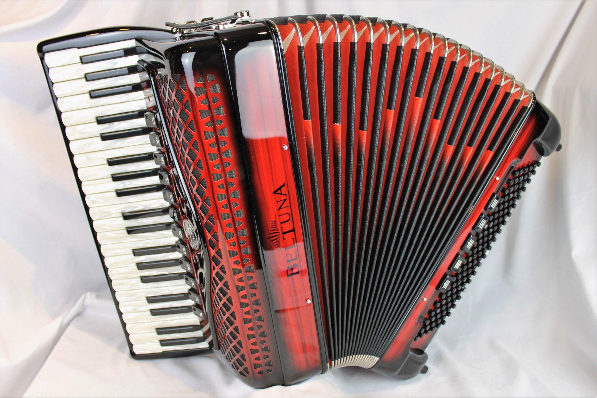 NEW Red Shadow Beltuna Studio IV Compact Piano Accordion LMMH 41 120