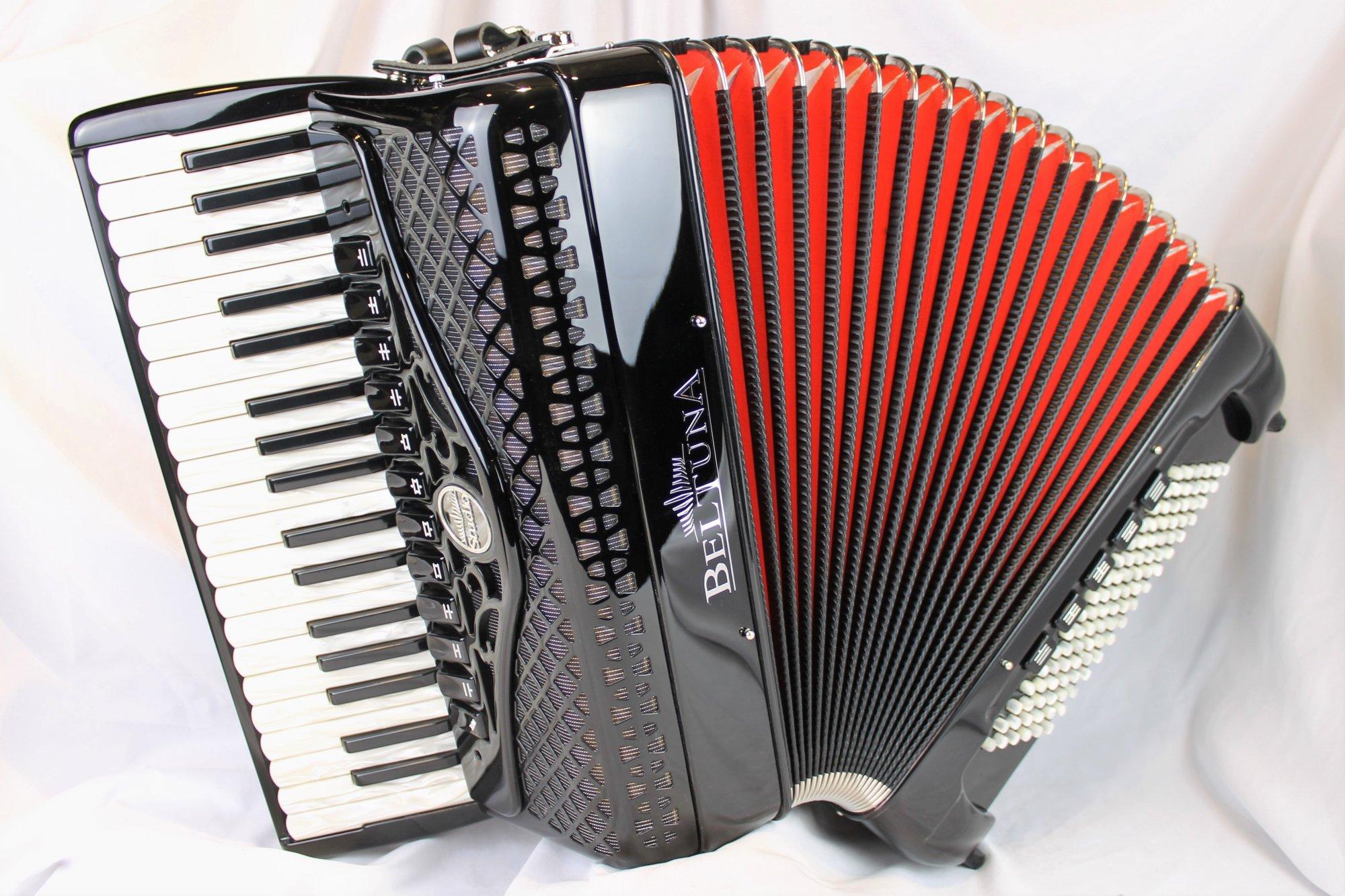 NEW Black Beltuna Studio IV Compact Piano Accordion LMMH 37 96