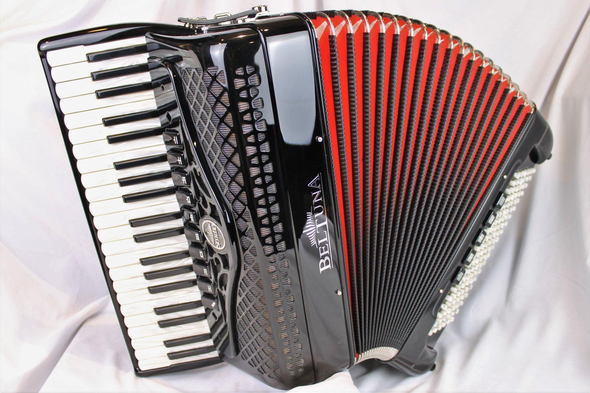 NEW Black Beltuna Studio IV Compact Piano Accordion LMMM 41 120