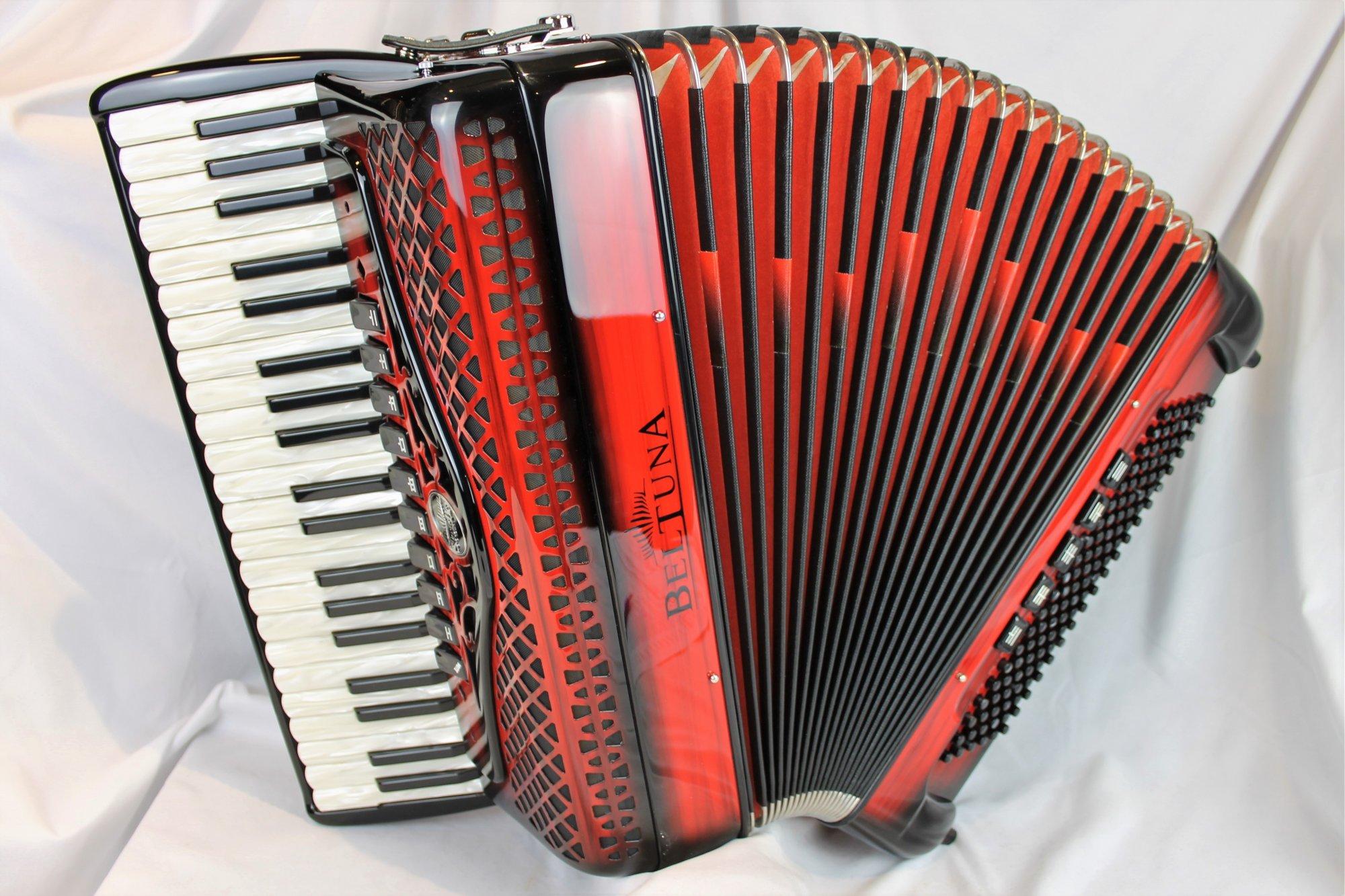NEW Red Shadow Beltuna Studio IV Piano Accordion LMMM 41 120