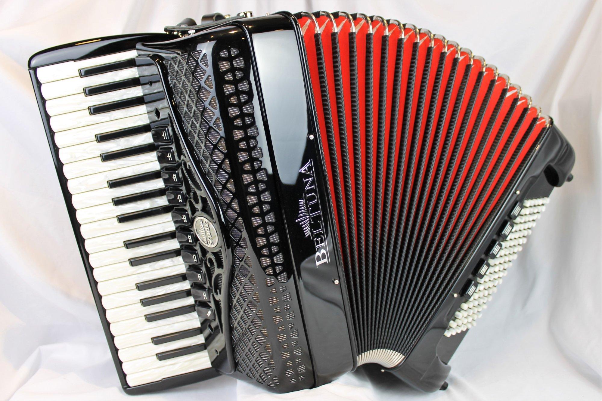 NEW Black Beltuna Studio IV Compact Piano Accordion LMMM 37 96