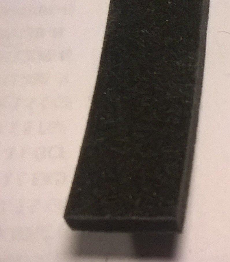 PT3 - Black Gasket for Accordion 12mm x 4mm, 3 Feet Long
